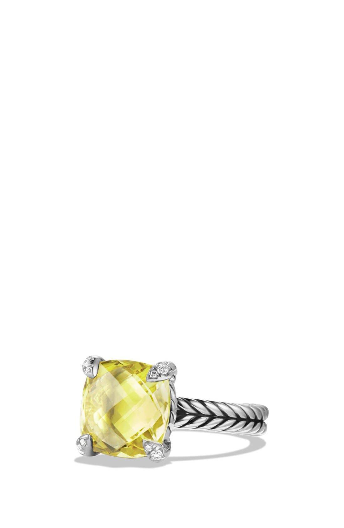 David Yurman 'Châtelaine' Ring with Semiprecious Stone and Diamonds