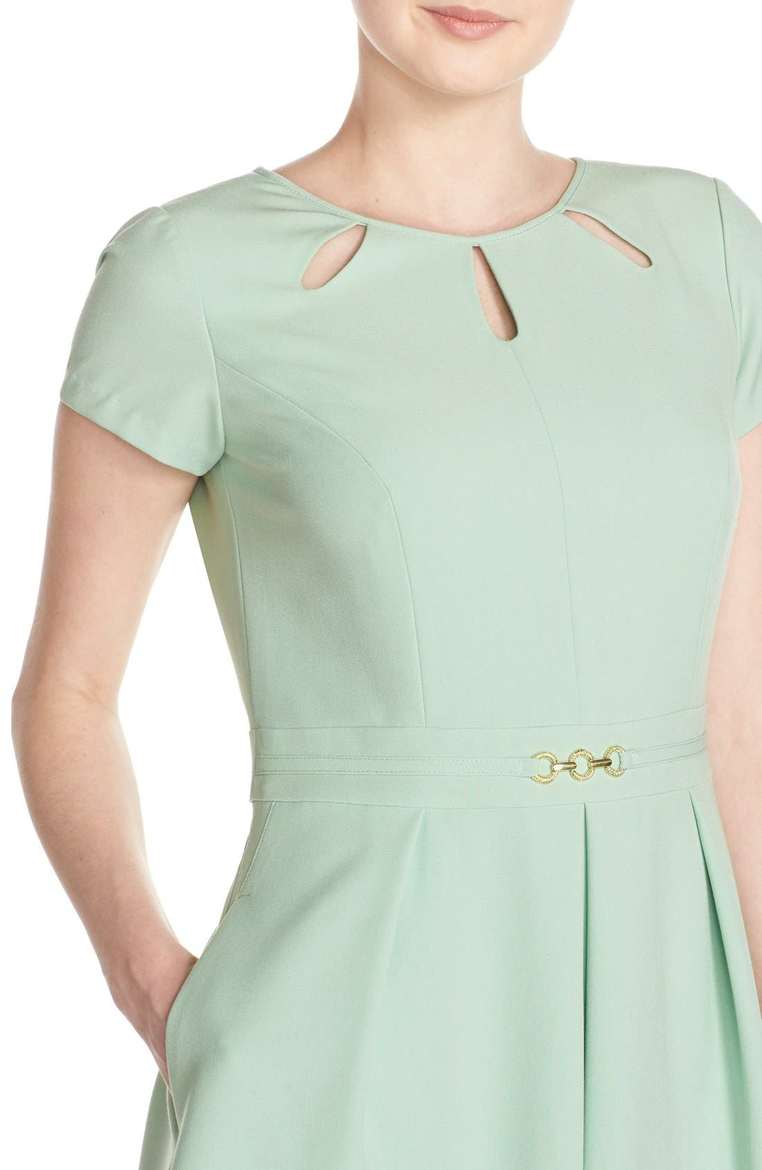Alternate Image 4  - Ellen Tracy Cutout Neck Fit & Flare Dress (Regular & Petite)