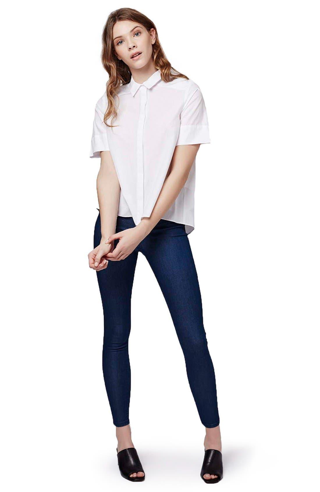Alternate Image 2  - Topshop 'Joni' Super Skinny Jeans (Petite)