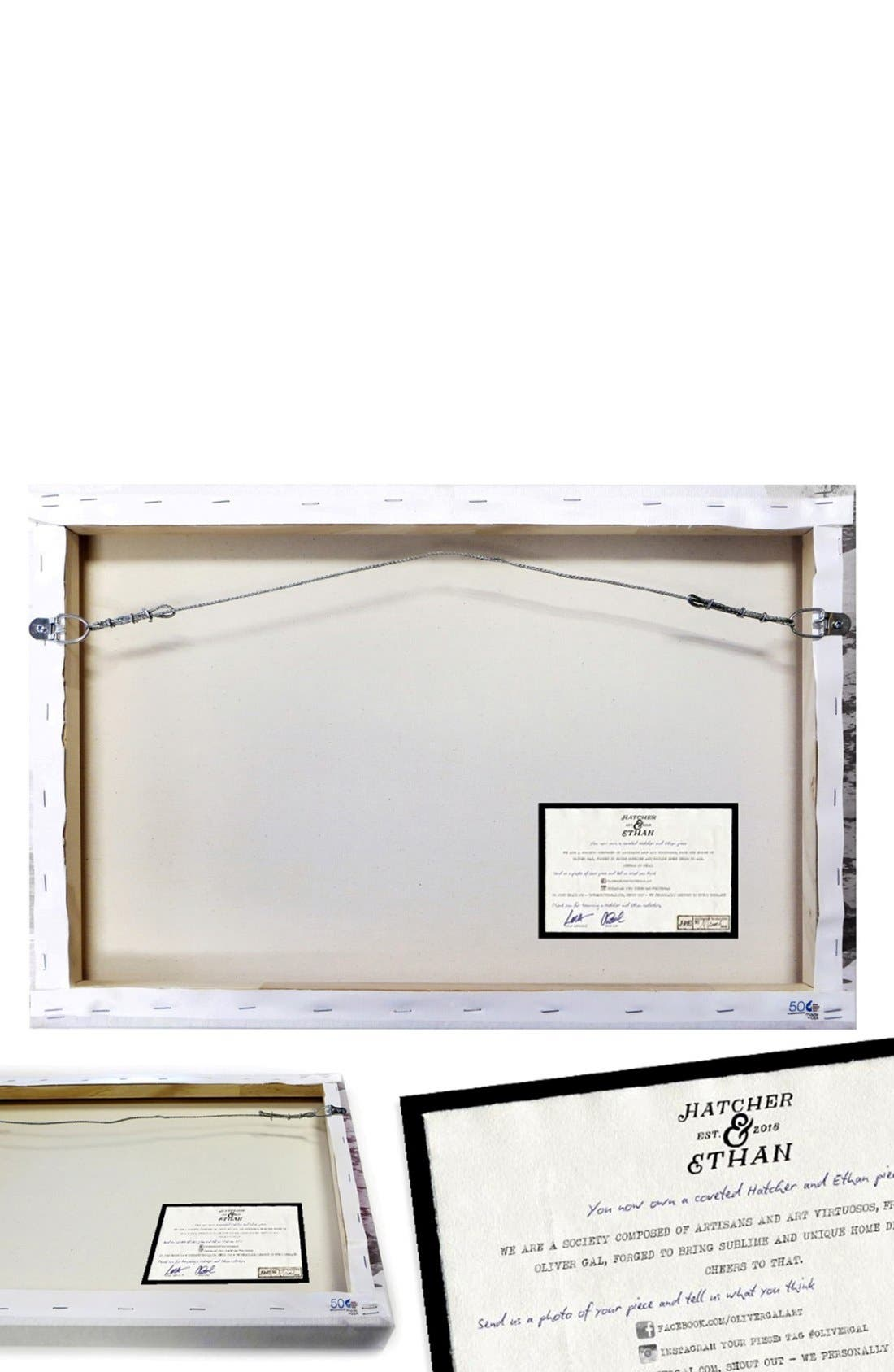 'Gold Anchor' Canvas Wall Art,                             Alternate thumbnail 3, color,                             Black