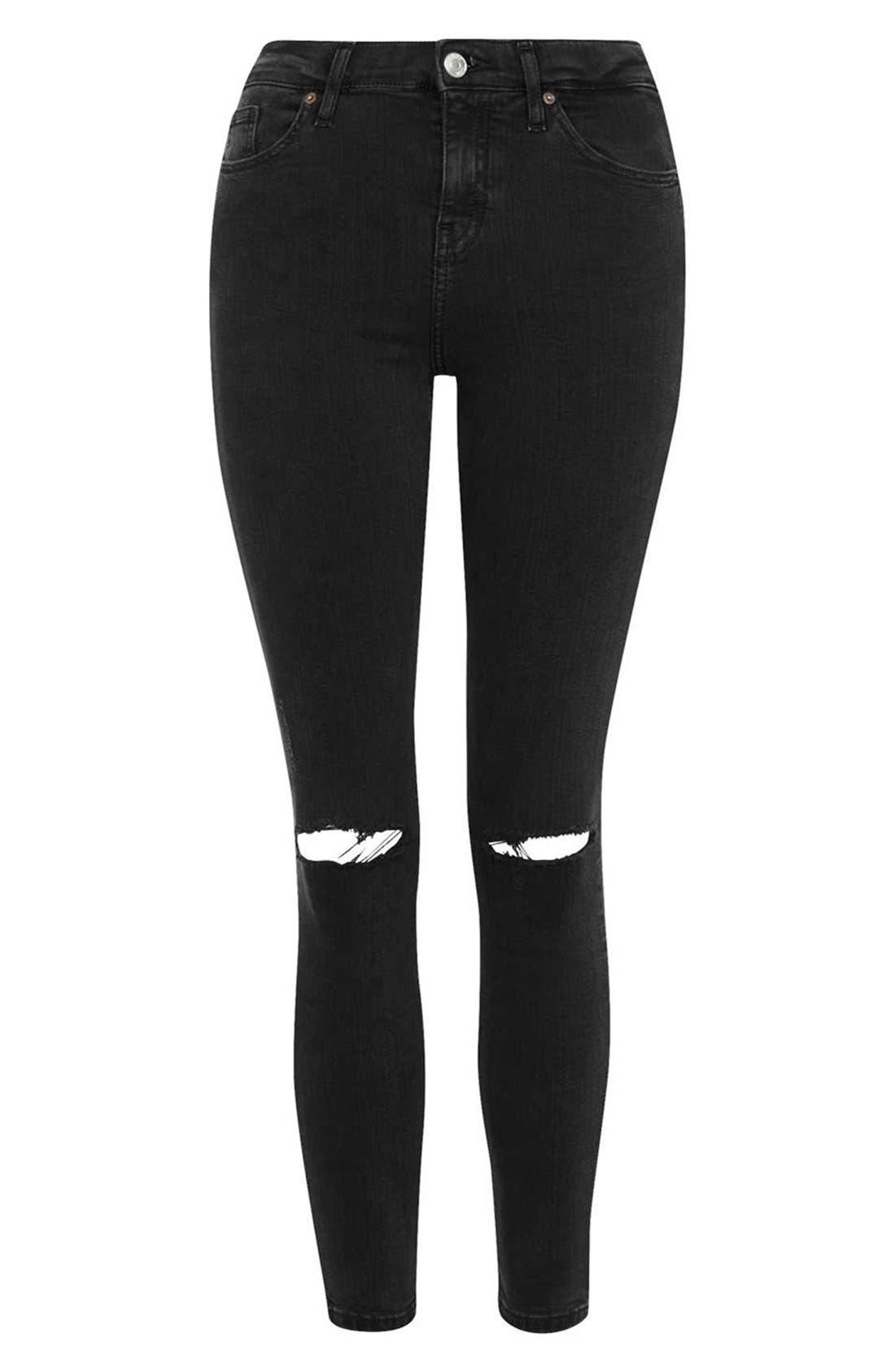 Alternate Image 4  - Topshop Moto 'Jamie' Ripped Skinny Crop Jeans (Petite)
