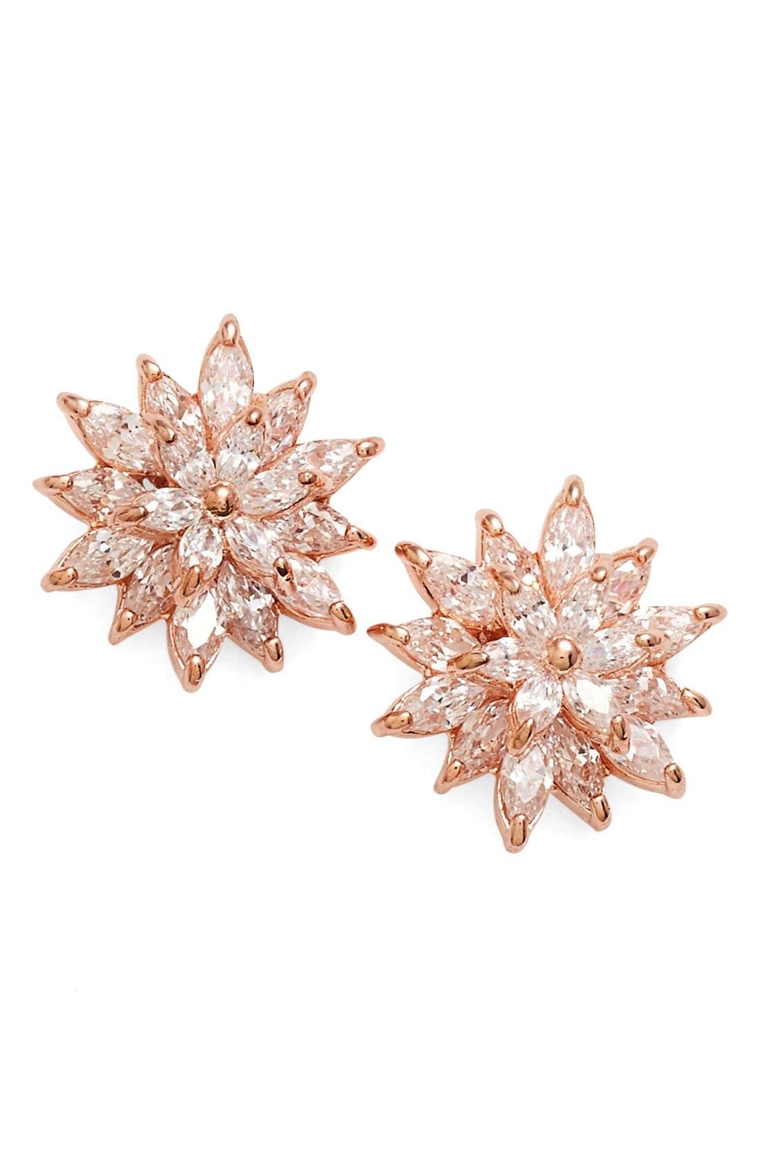 Alternate Image 1 Selected - Nina 'Flower' Crystal Stud Earrings