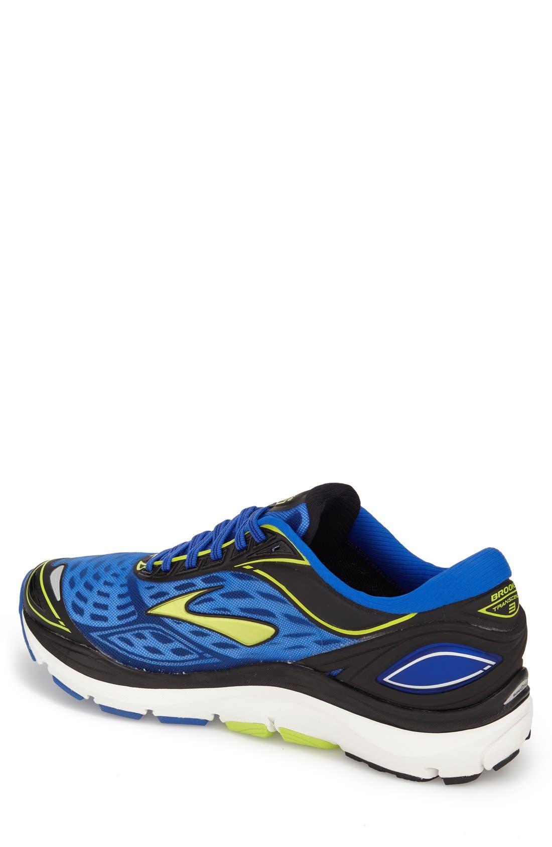 'Transcend 3' Running Shoe,                             Alternate thumbnail 2, color,                             Electric Blue/ Lime/ Black