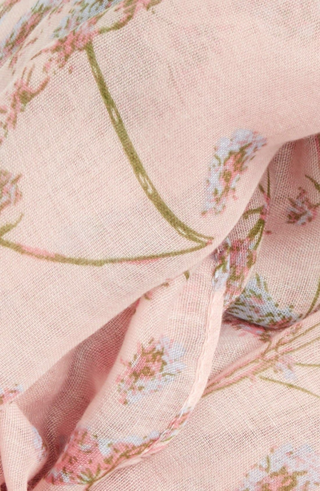 'Wildflower' Infinity Scarf,                             Alternate thumbnail 3, color,                             Pink Multi