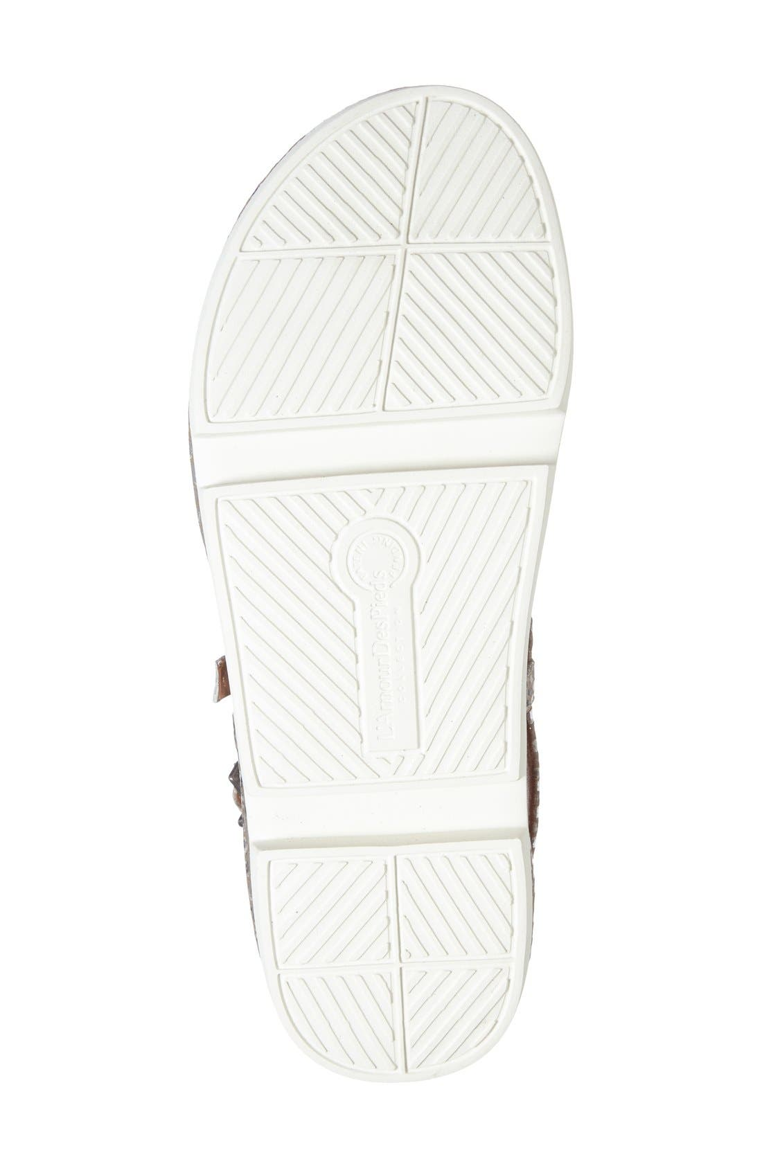 'Verdun' Crisscross Sandal,                             Alternate thumbnail 4, color,                             Gold/ Silver Snake Leather