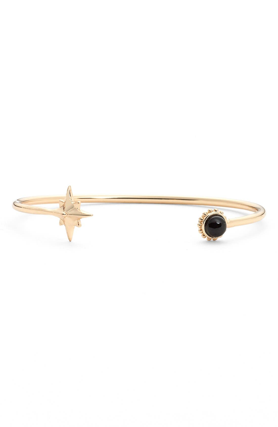 Onyx Star Cuff,                         Main,                         color, Gold
