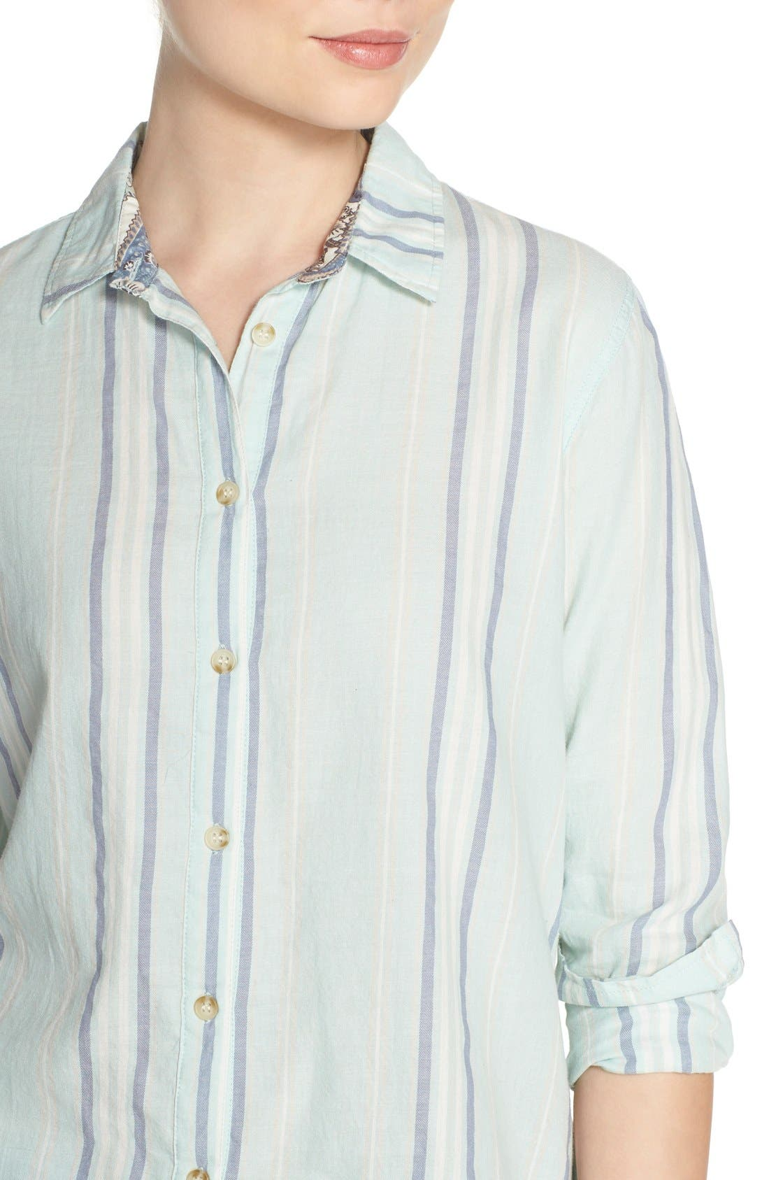 Alternate Image 4  - PJ Salvage Stripe Cotton Twill Top