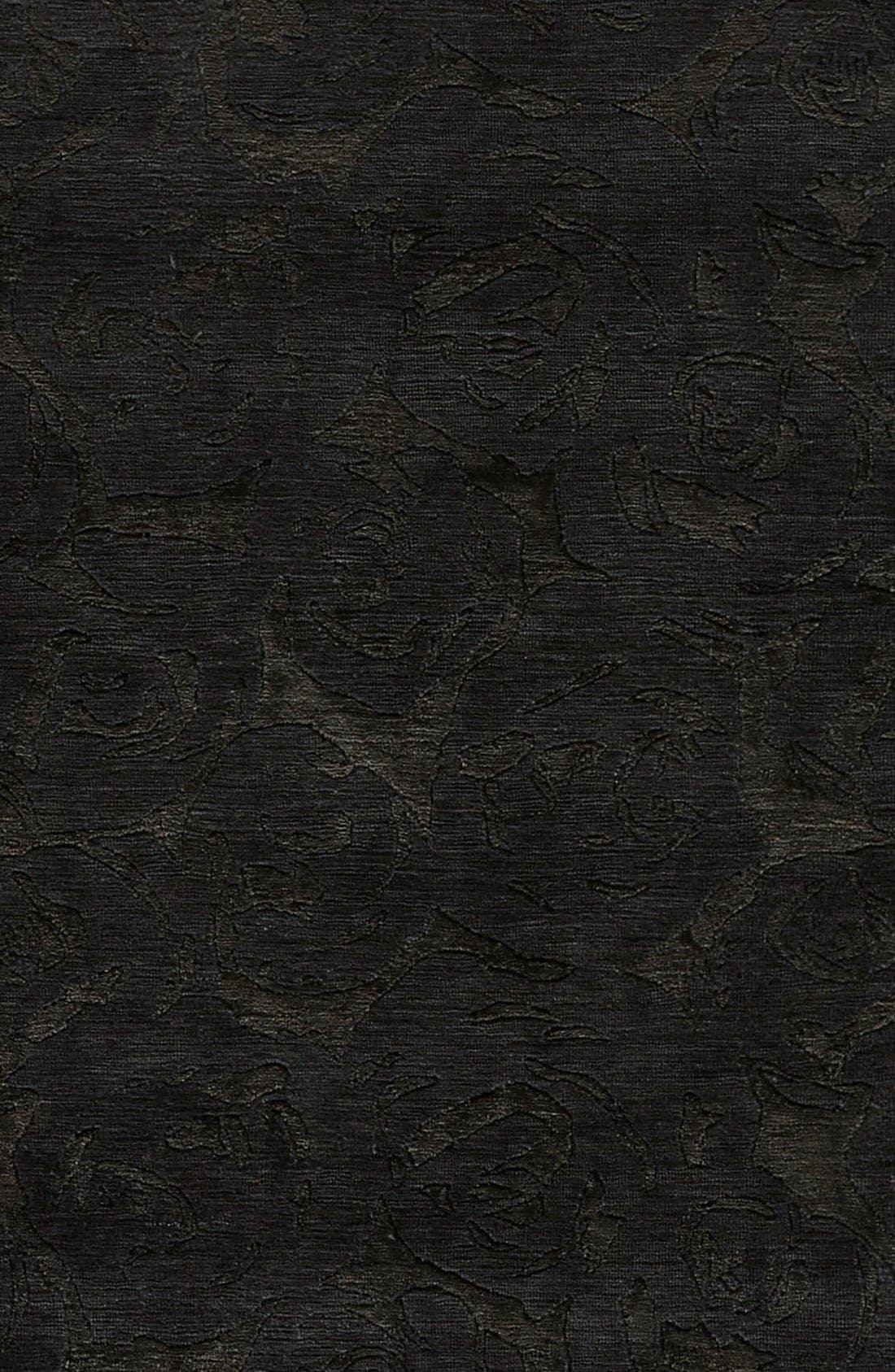 'noho' premium wool blend rug,                             Alternate thumbnail 4, color,                             Black