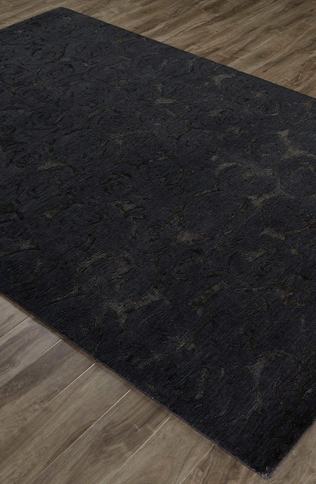 'noho' premium wool blend rug,                             Alternate thumbnail 3, color,                             Black