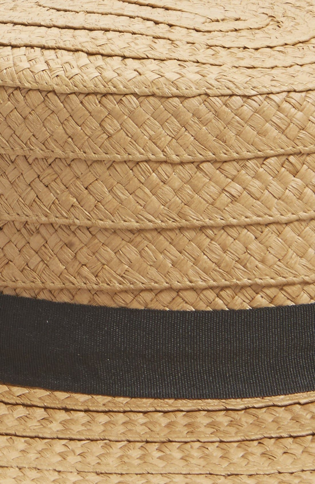 Straw Boater Hat,                             Alternate thumbnail 3, color,                             Natural