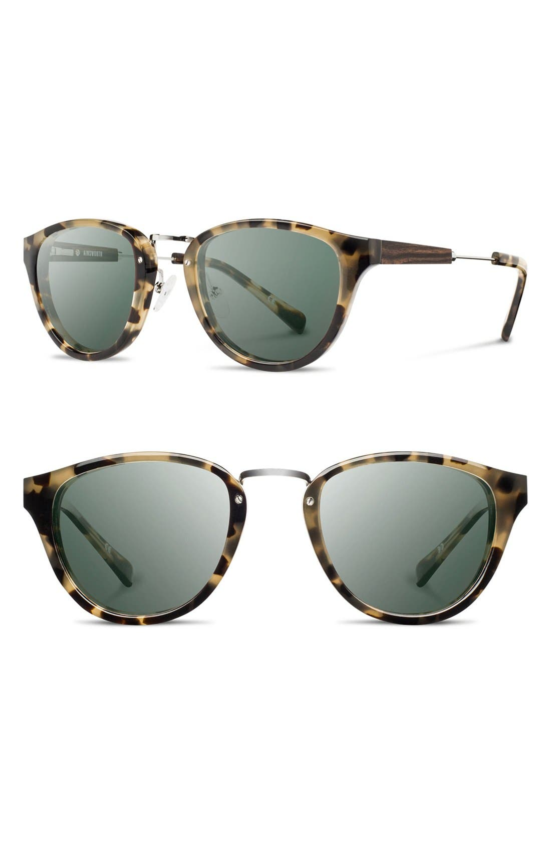Shwood 'Ainsworth' 49mm Acetate & Wood Sunglasses