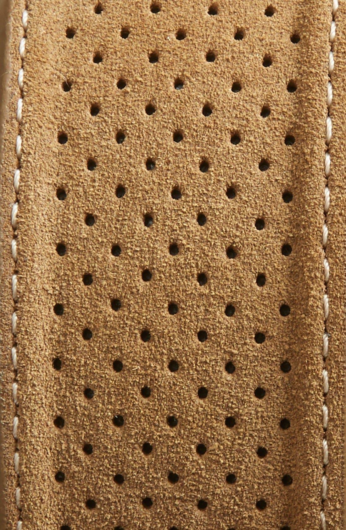 Alternate Image 2  - Johnston & Murphy Perforated Suede Belt