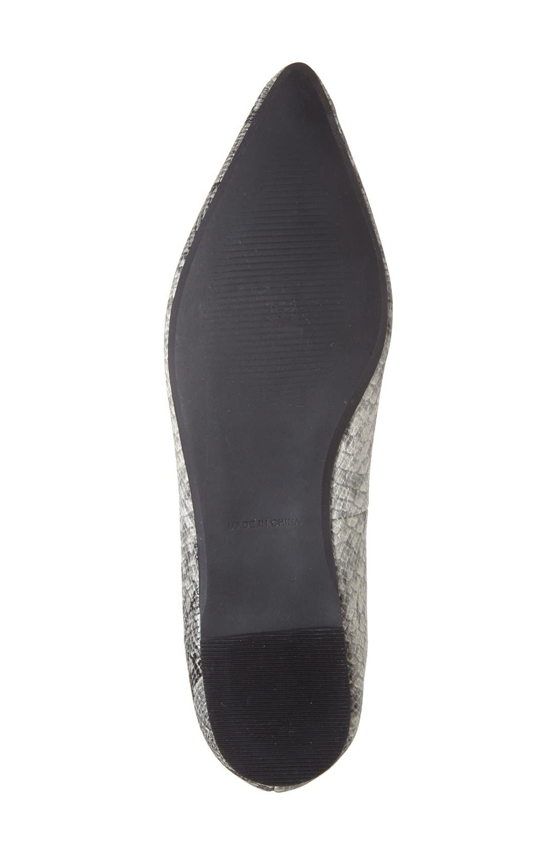 Alternate Image 4  - Topshop 'Fancy' Pointy Toe Ghillie Flat (Women)