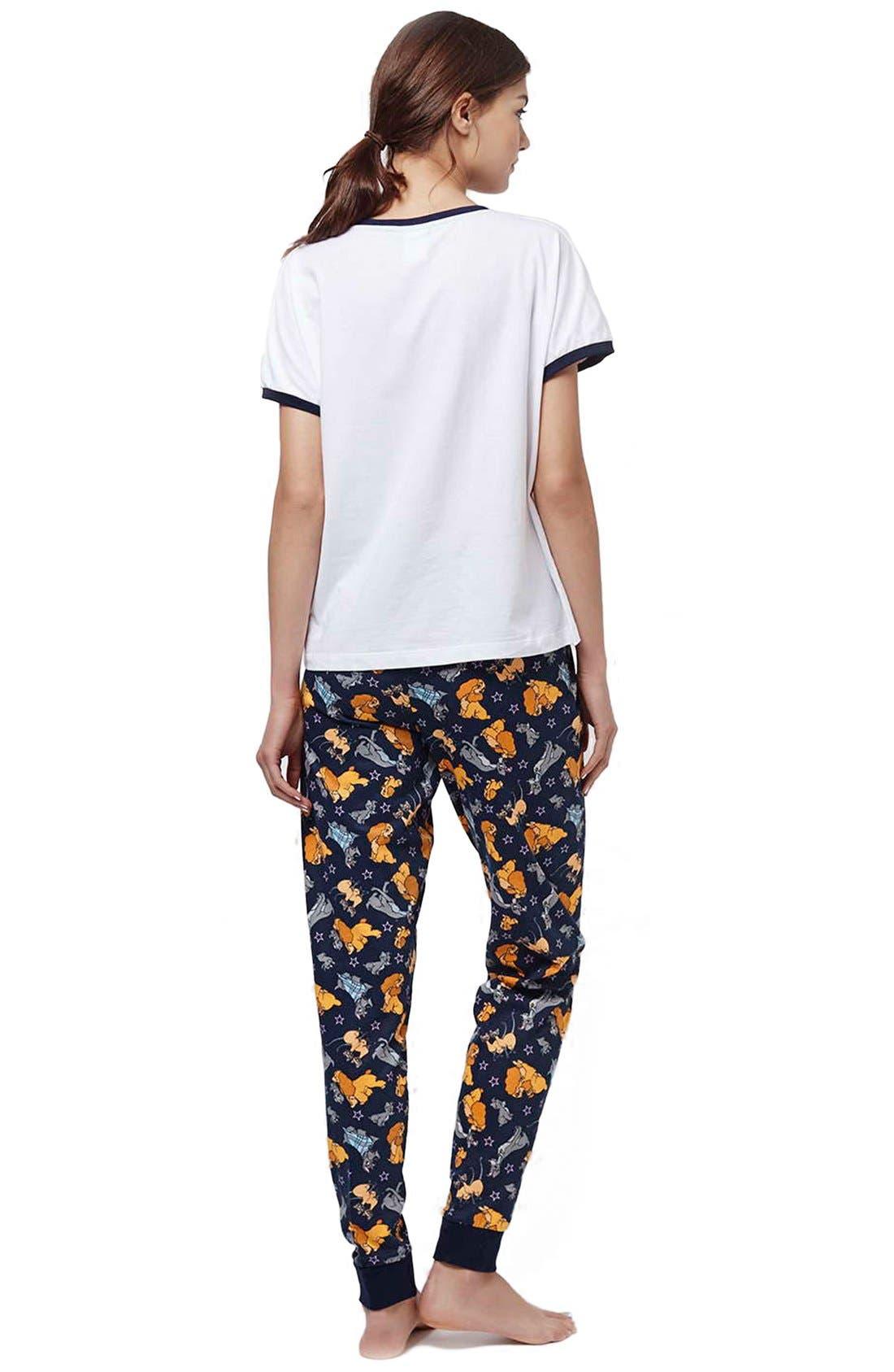 Alternate Image 2  - Topshop 'Lady & the Tramp' Pajamas