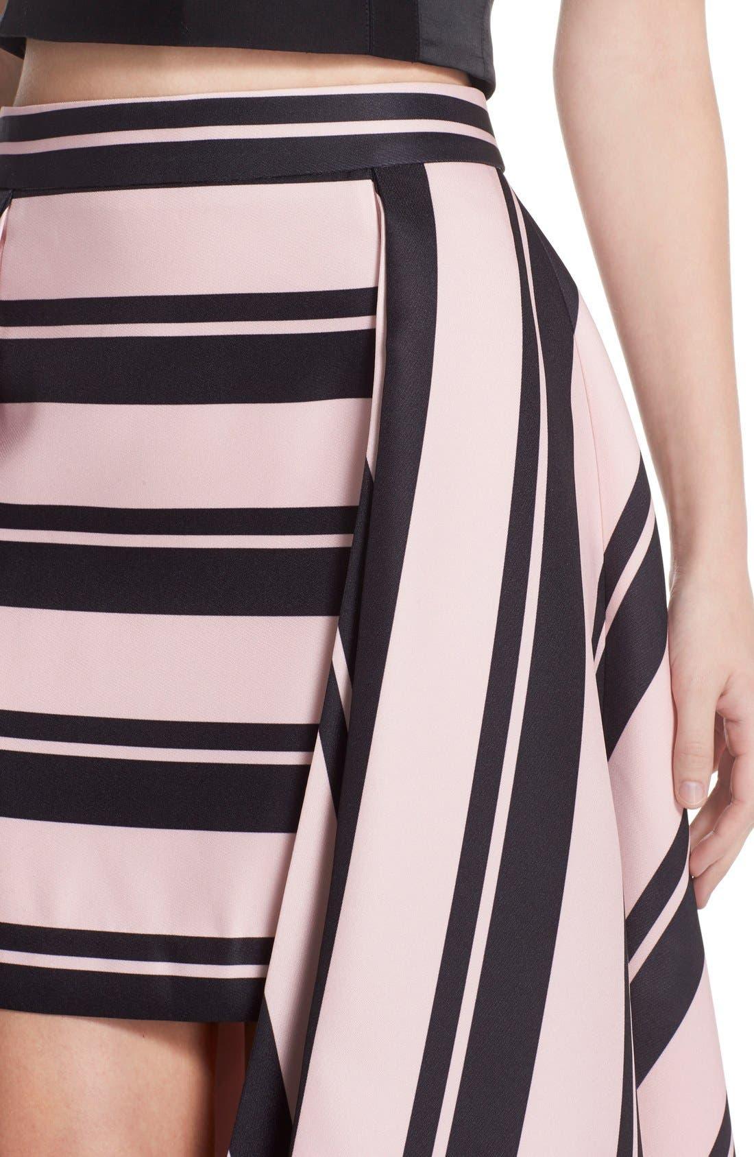 Alternate Image 3  - Halston Heritage Print High/Low A-Line Skirt