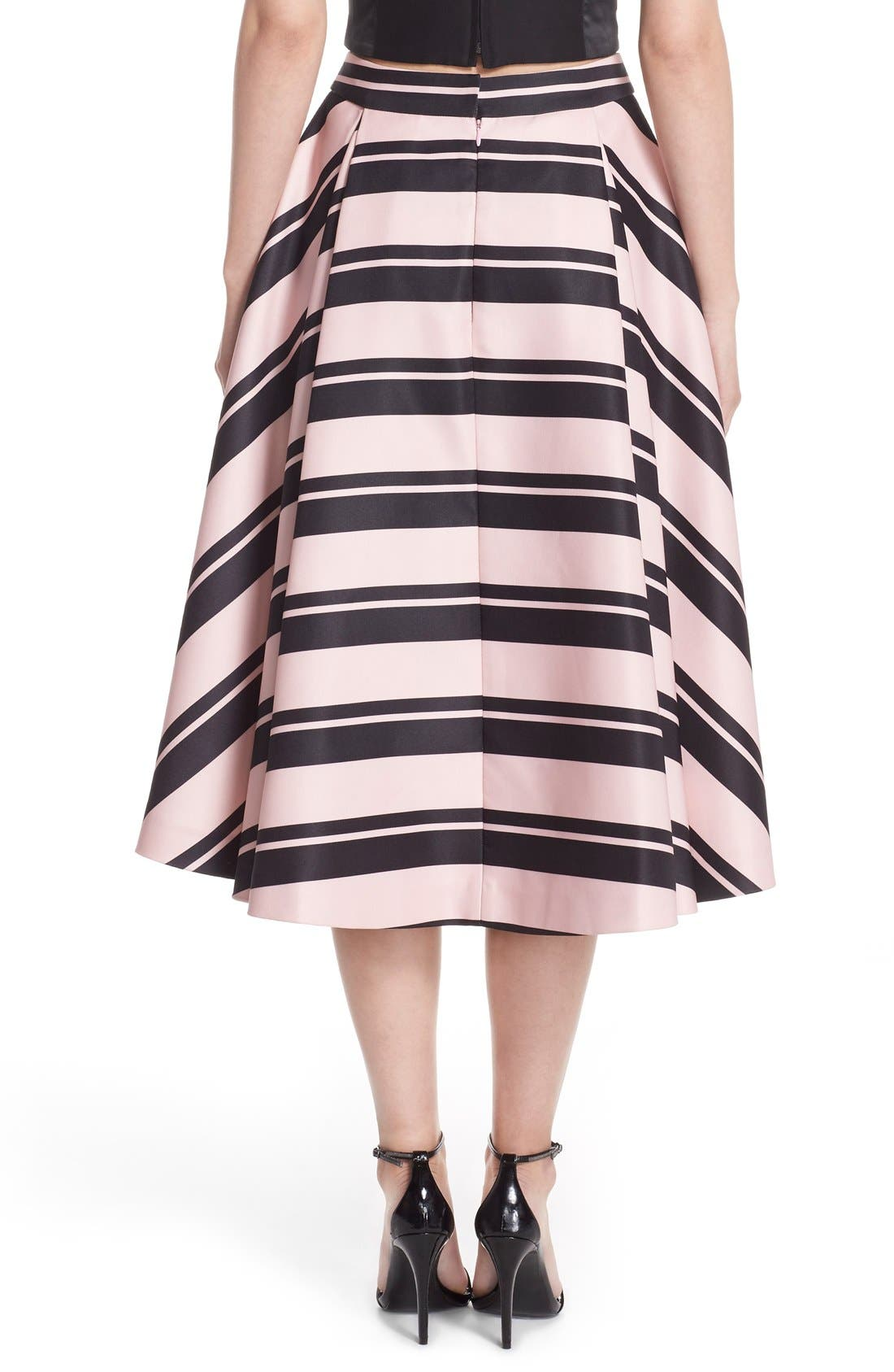 Alternate Image 2  - Halston Heritage Print High/Low A-Line Skirt