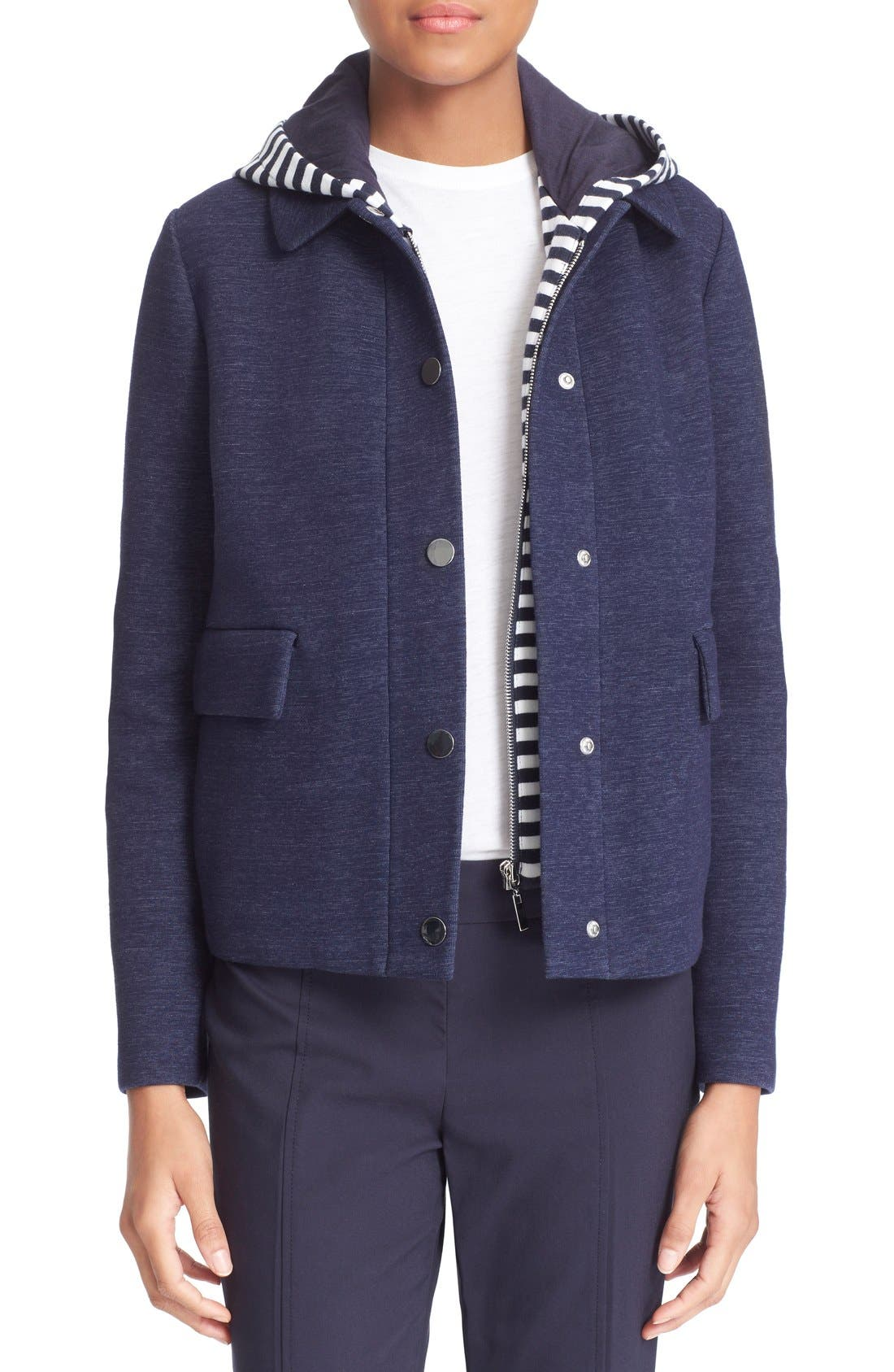 Alternate Image 1 Selected - Tory Burch Hooded Jacket