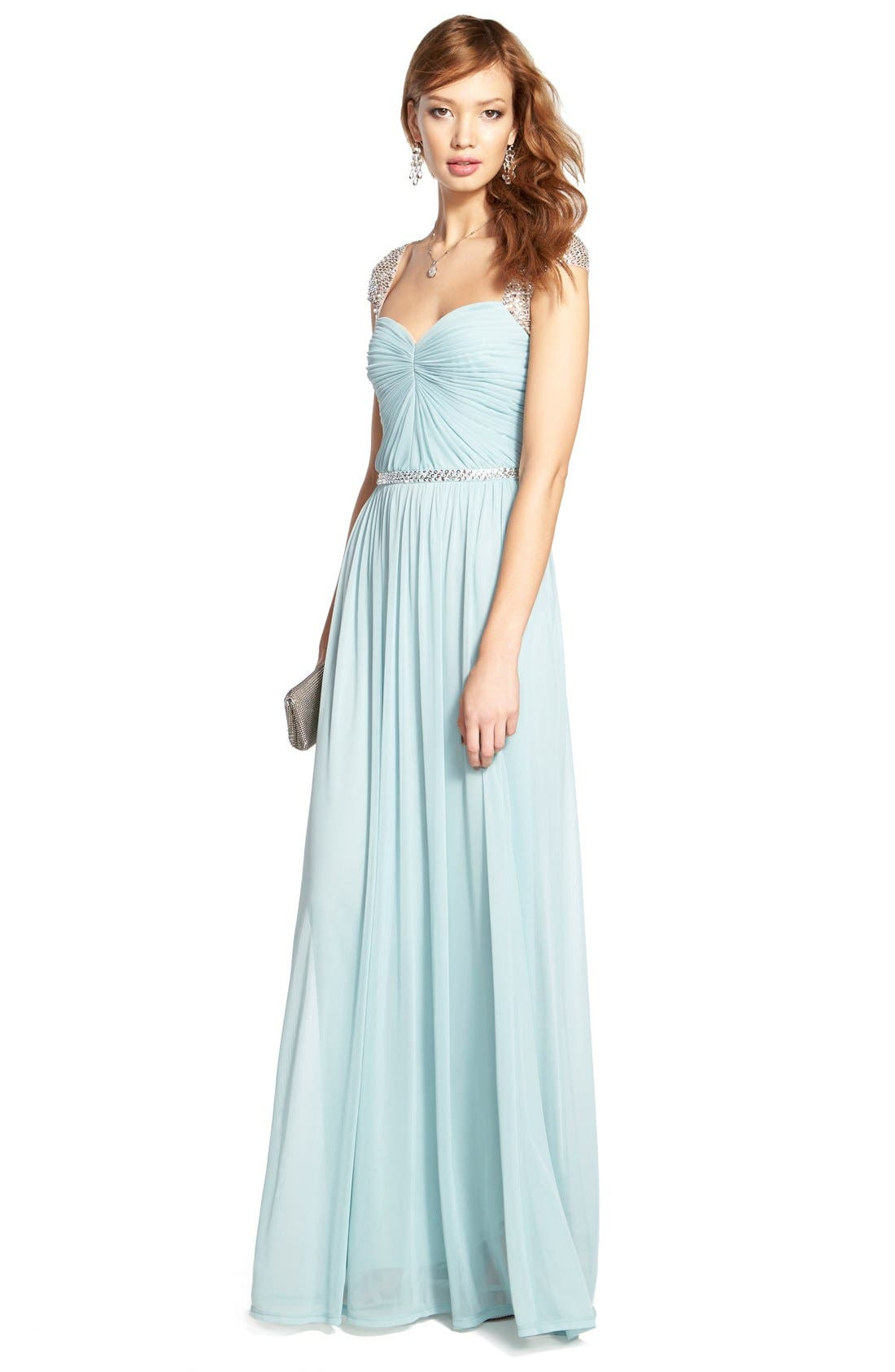 Alternate Image 6  - Adrianna Papell Embellished Ruched Jersey Gown