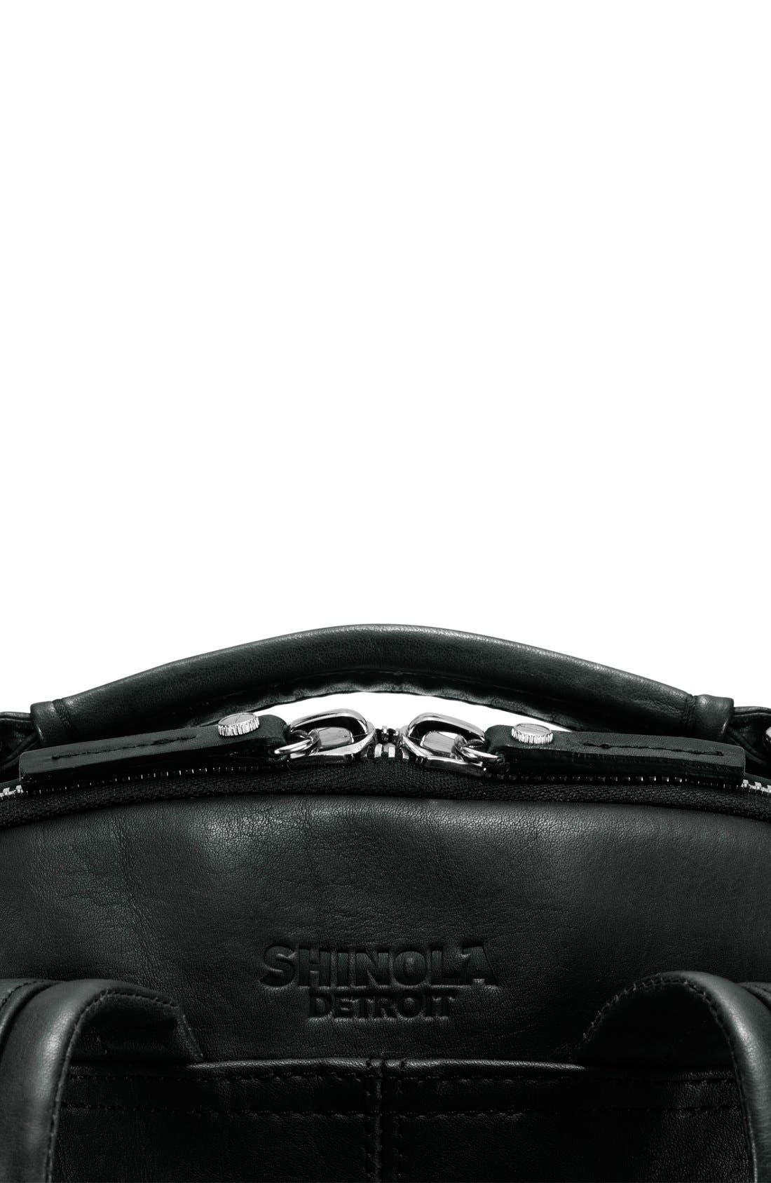 Runwell Leather Laptop Backpack,                             Alternate thumbnail 8, color,                             Black