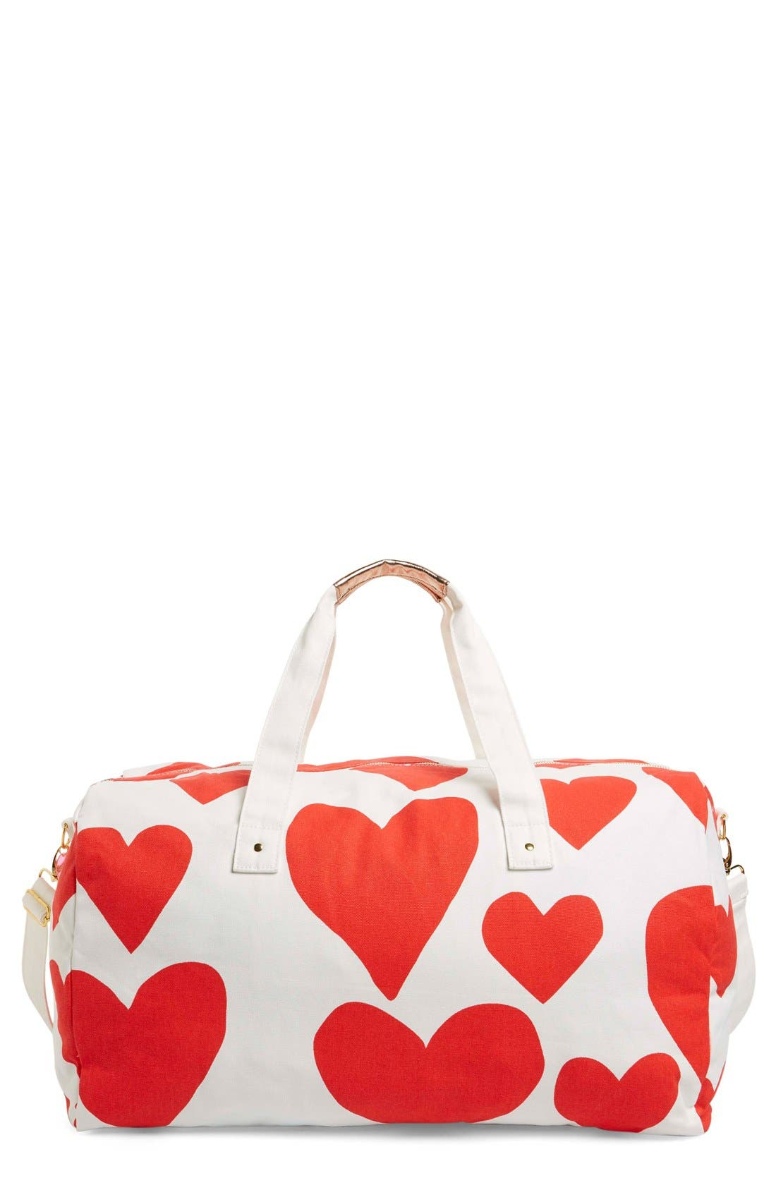 Alternate Image 1 Selected - ban.do 'Extreme Hearts' Canvas Duffel Bag