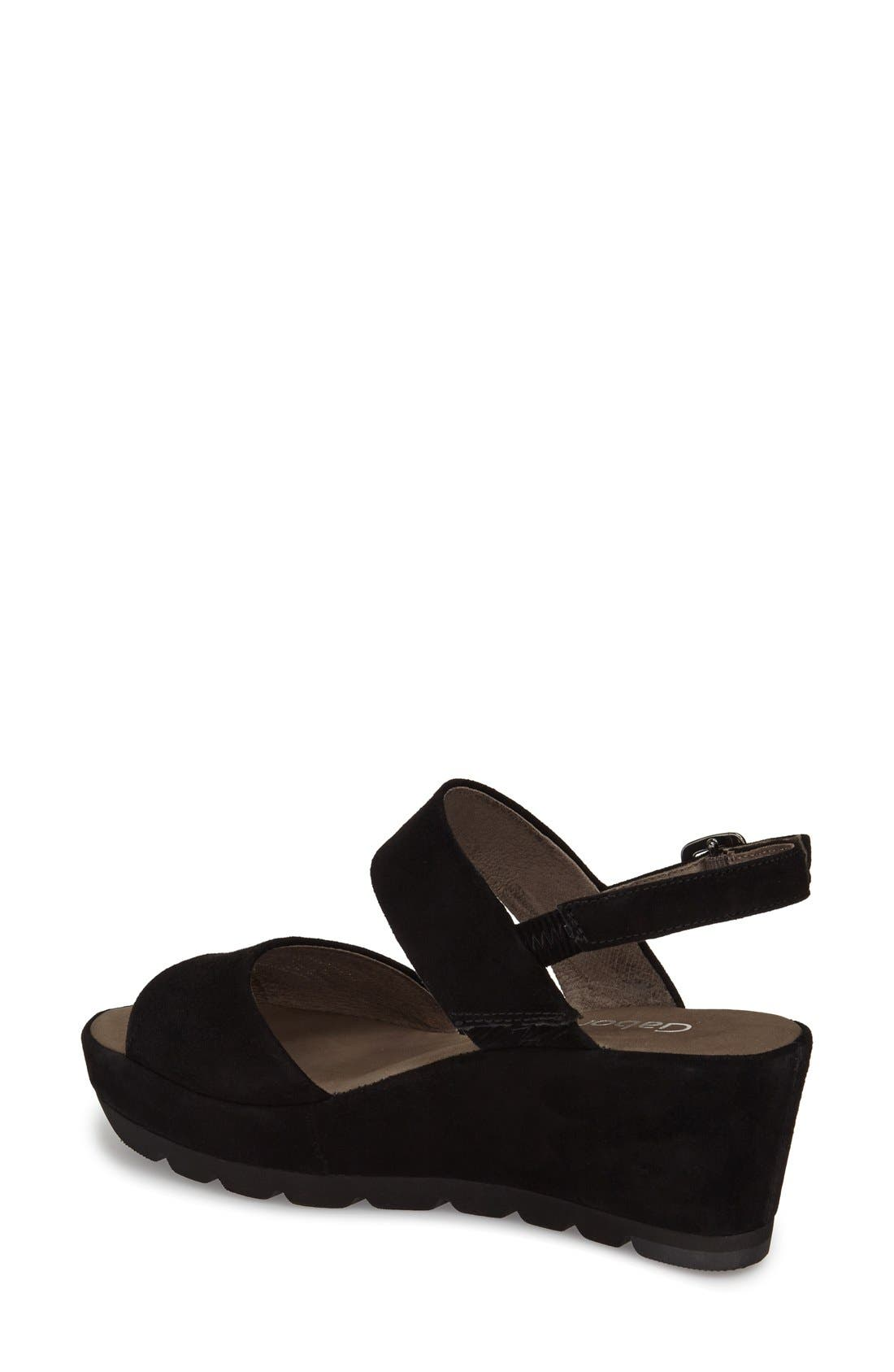 Alternate Image 2  - Gabor Two-Strap Sandal (Women)