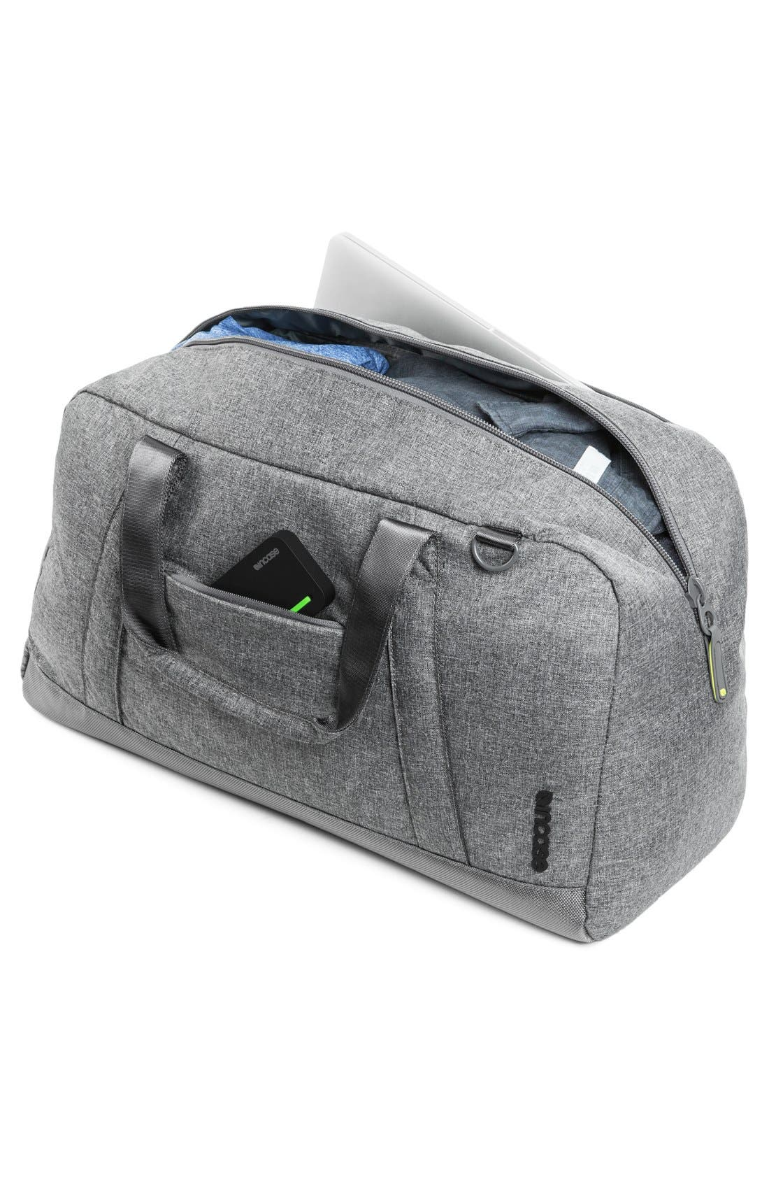 EO Duffel Bag,                             Alternate thumbnail 3, color,                             Heather Grey