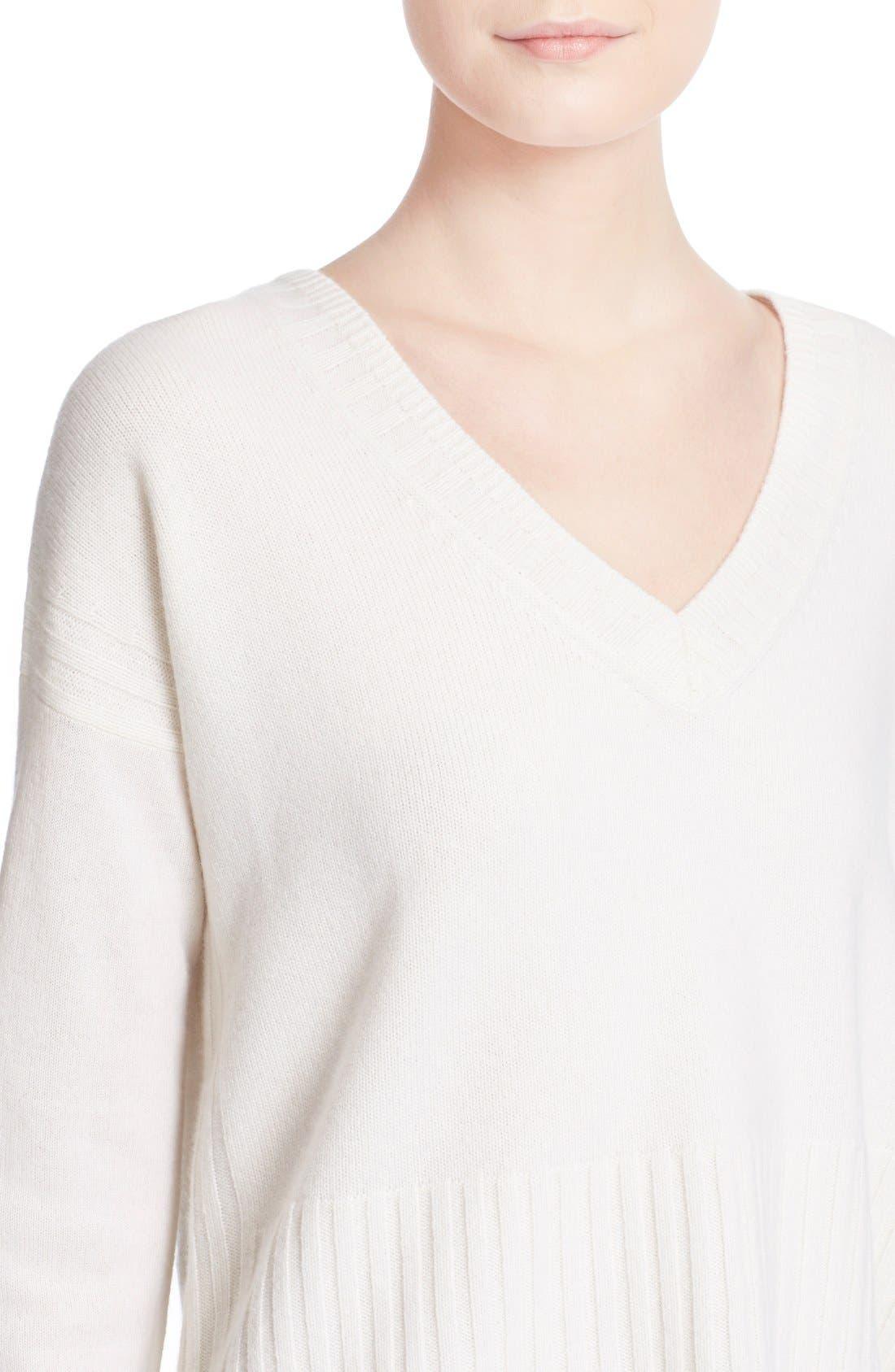 Alternate Image 4  - Derek Lam 10 Crosby V-Neck Cashmere Sweater