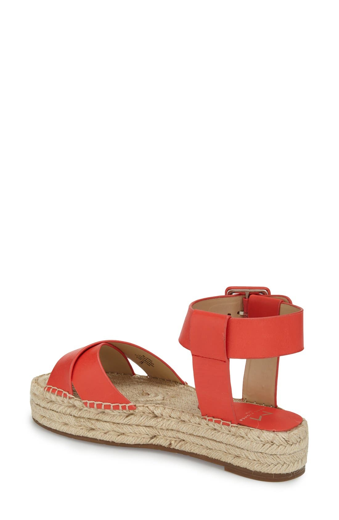 'Vienna' Espadrille Sandal,                             Alternate thumbnail 2, color,                             Red Leather