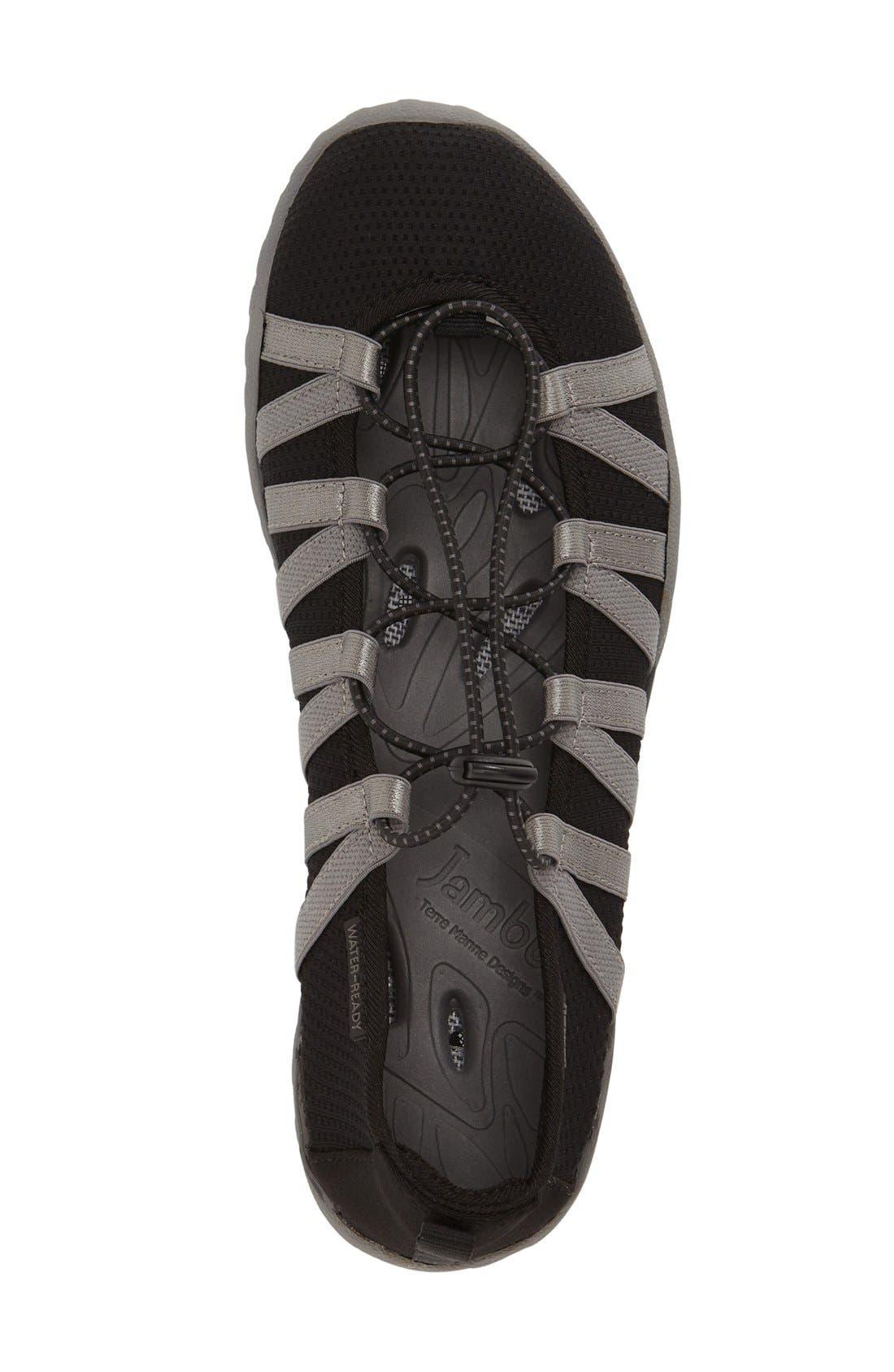 'Manuka' Water Friendly Slip-On Sneaker,                             Alternate thumbnail 3, color,                             Black Fabric