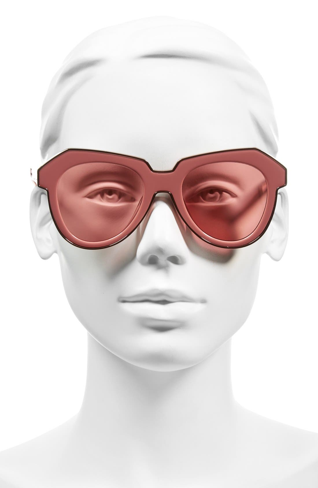 'One Astronaut - Arrowed by Karen' 49mm Sunglasses,                             Alternate thumbnail 2, color,                             Crystal Pink/ Rose Pink