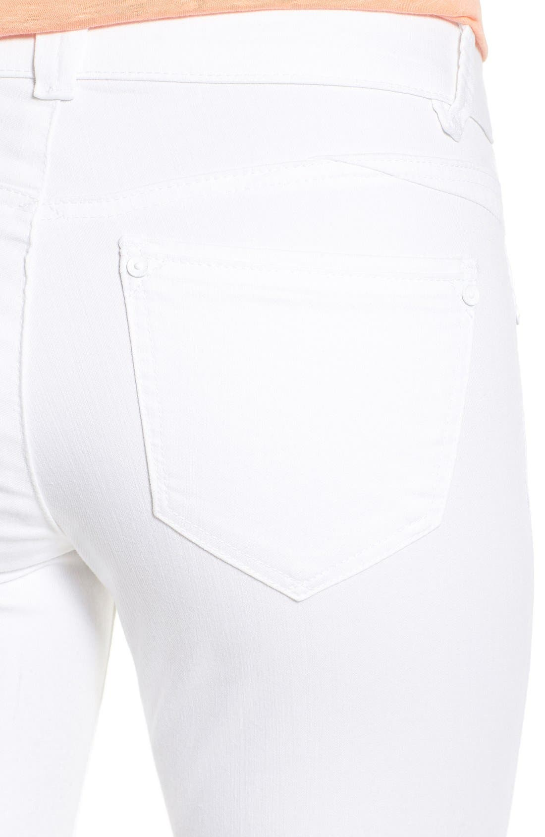 Alternate Image 5  - Wit & Wisdom Ab-solution Stretch Ankle Skinny Jeans (Optic White) (Nordstrom Exclusive)