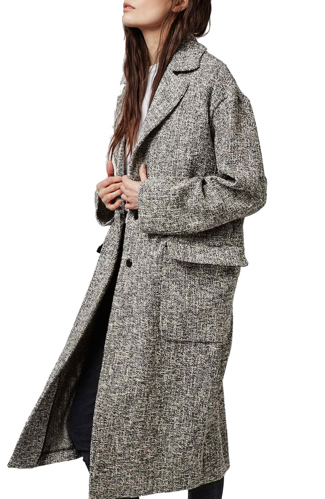 Alternate Image 3  - Topshop Marled Coat