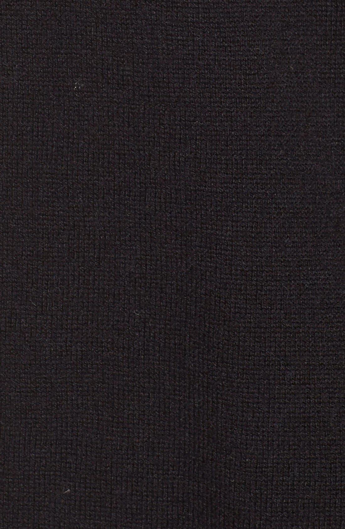 LongWrap Cardigan,                             Alternate thumbnail 5, color,                             Black