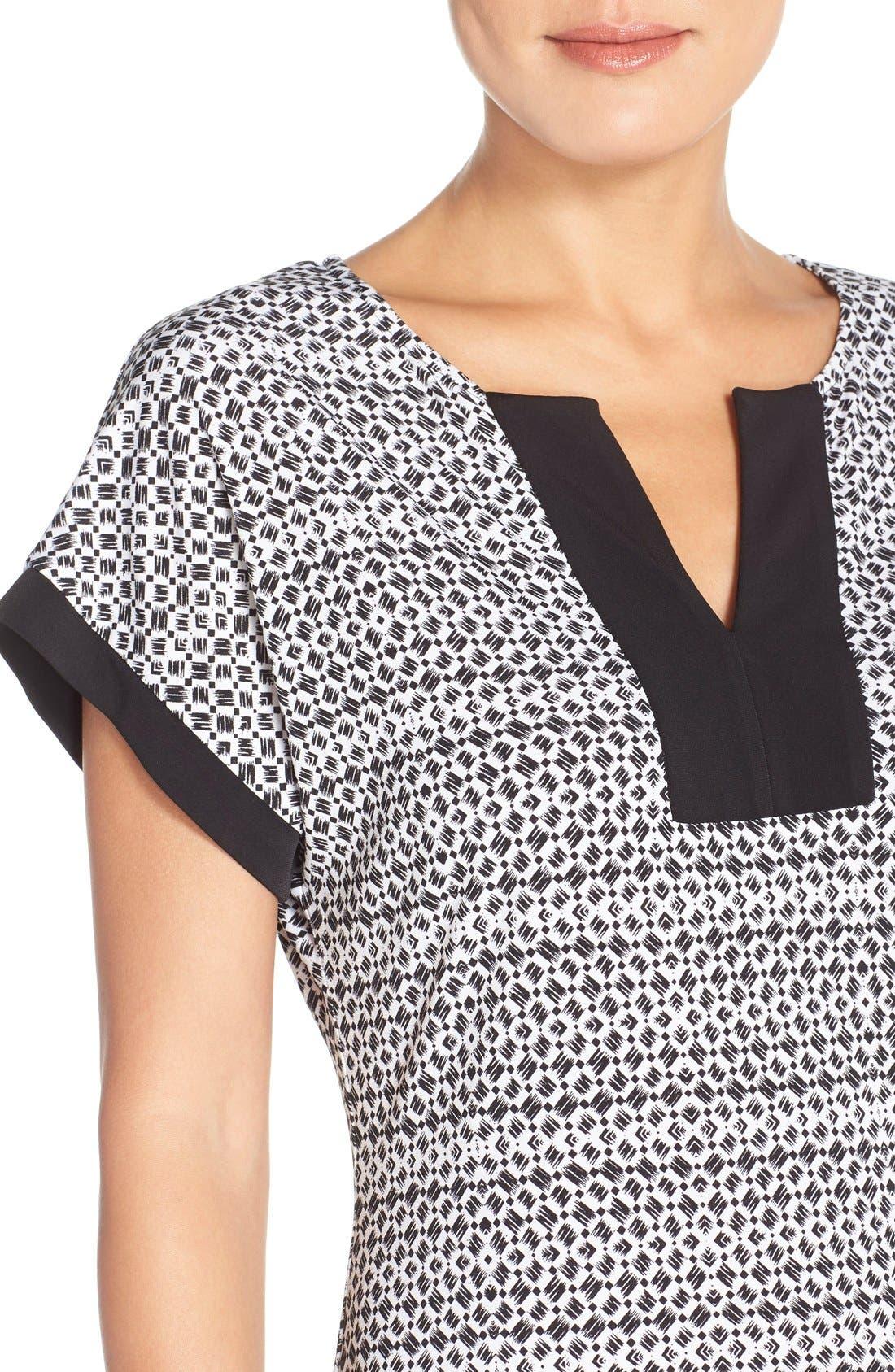 Alternate Image 4  - London Times Mixed Print Jersey Shift Dress