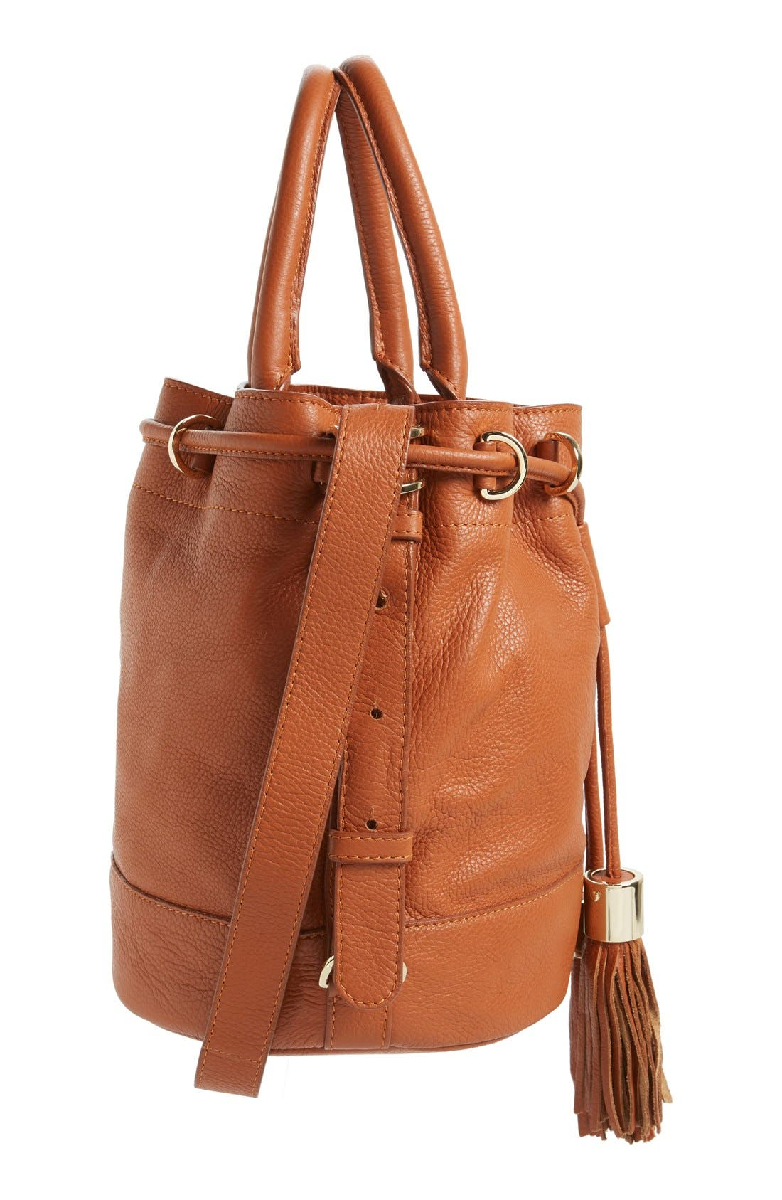 Alternate Image 5  - See by Chloé 'Vicki' Small Leather Bucket Bag