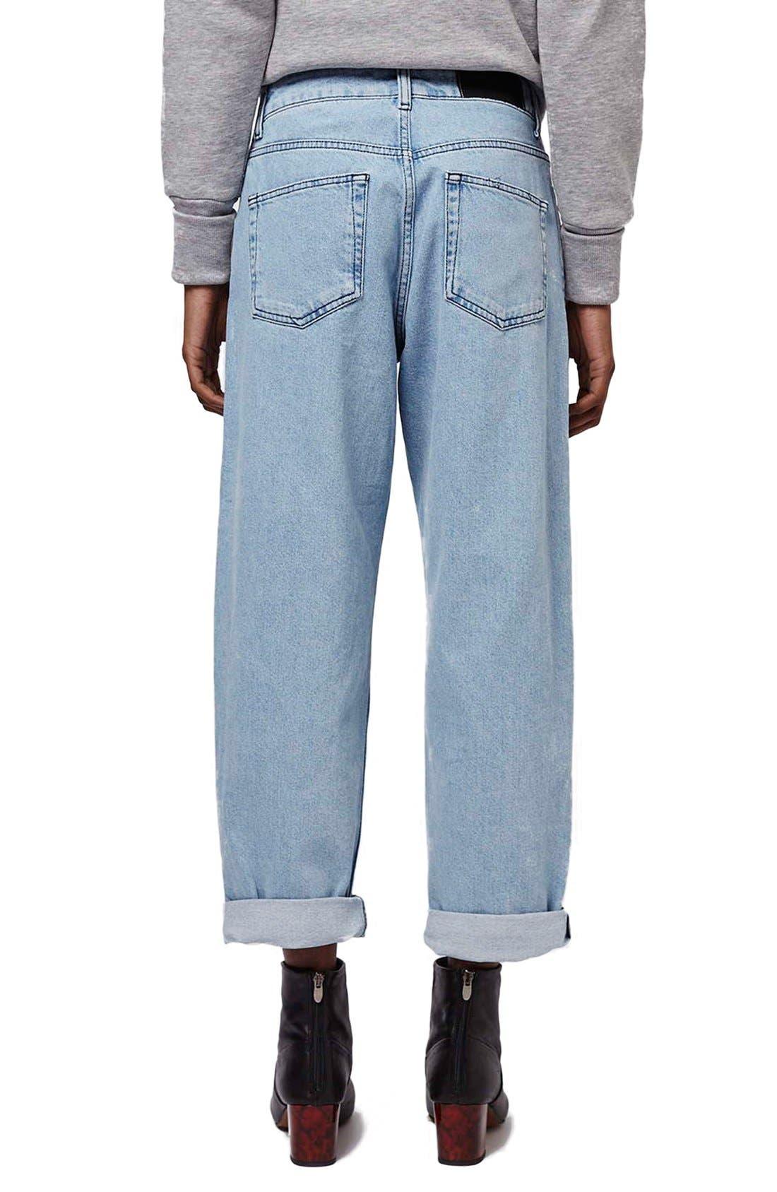 Alternate Image 3  - Topshop Boutique Wide Leg Jeans