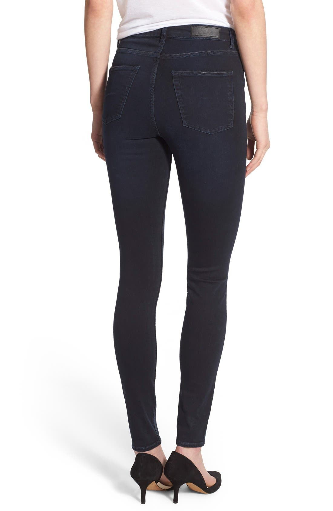 Alternate Image 2  - Cheap Monday High Rise Skinny Jeans (OD Blue)