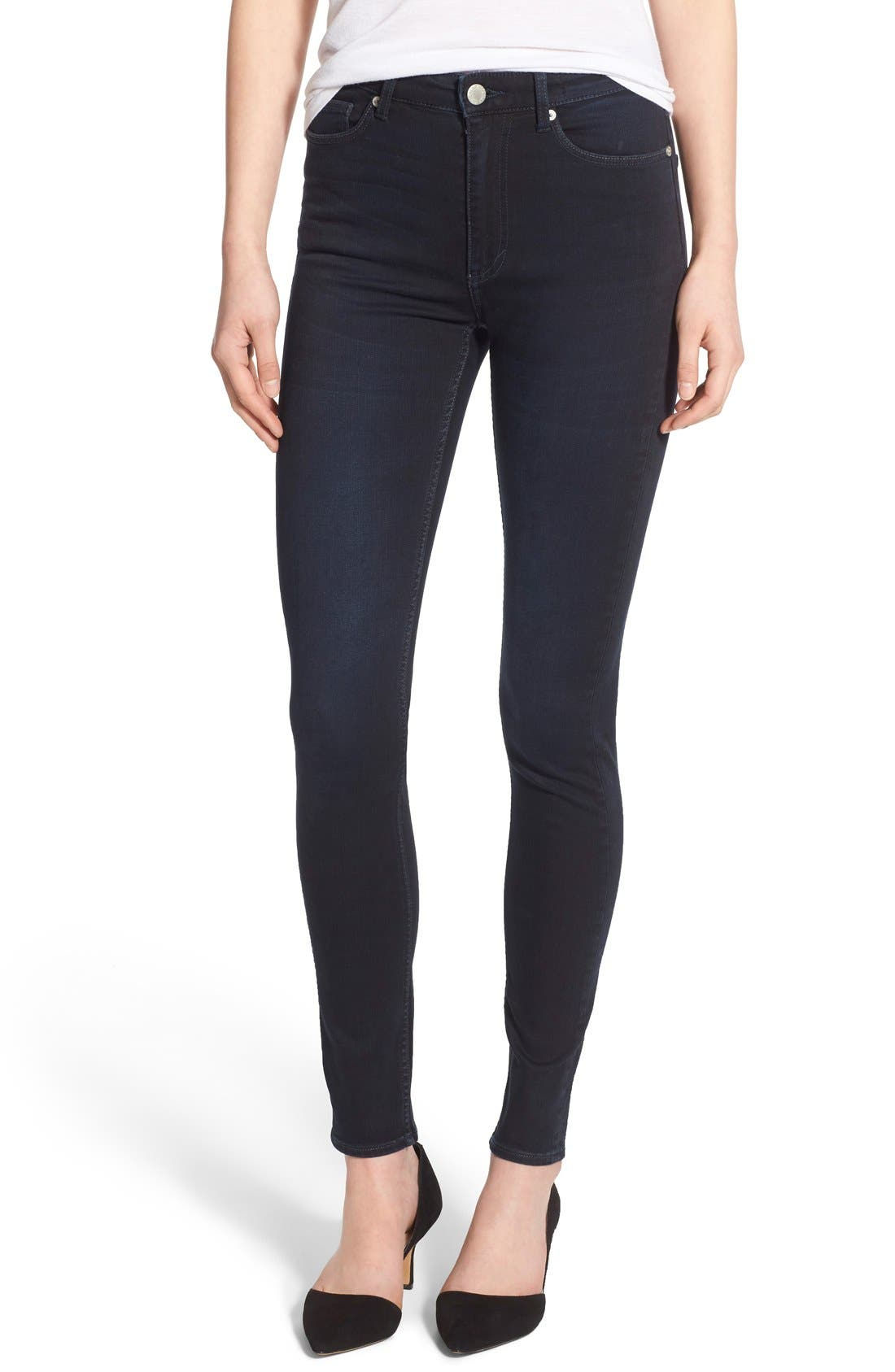 Main Image - Cheap Monday High Rise Skinny Jeans (OD Blue)