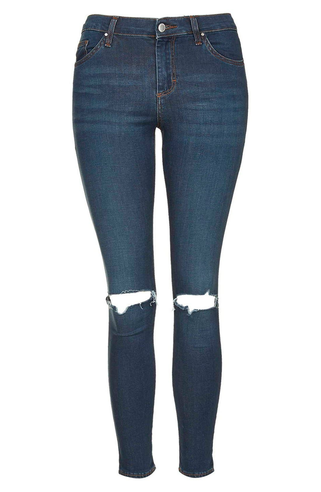 Alternate Image 4  - Topshop 'Leigh' Vintage Ripped Jeans (Petite)