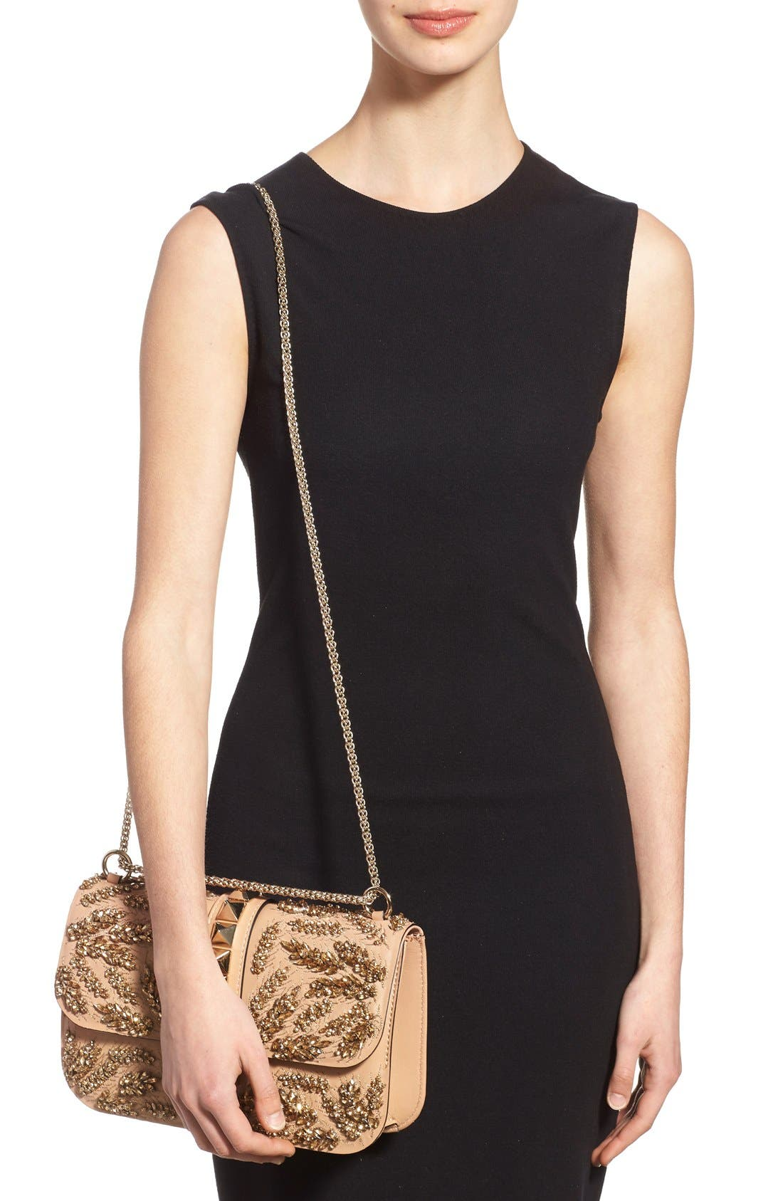 Alternate Image 2  - Valentino 'Rockstud Embellished - Medium Lock' Leather Shoulder Bag