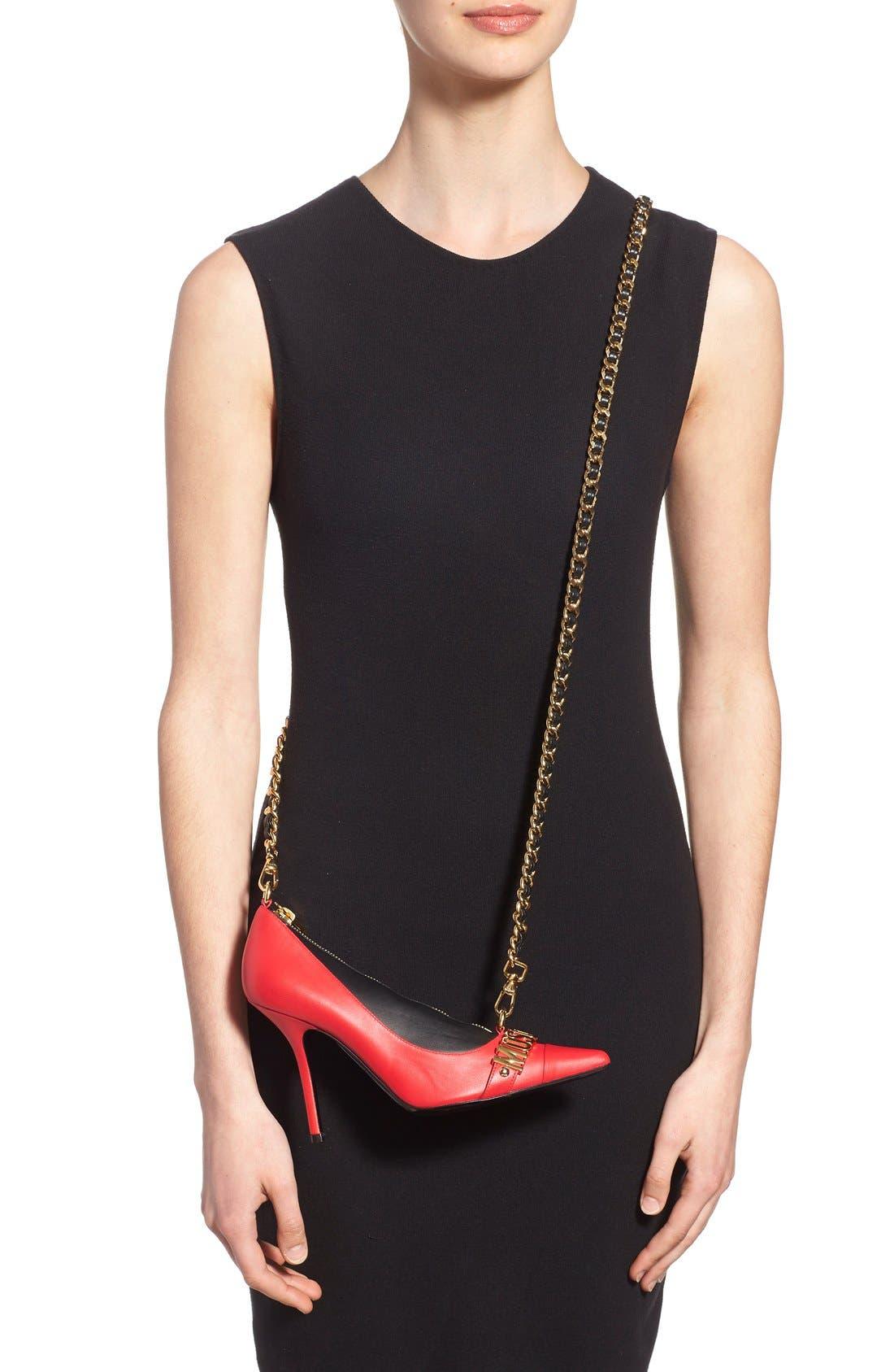 Alternate Image 2  - Moschino 'Pointy Toe Pump' Leather Crossbody Bag