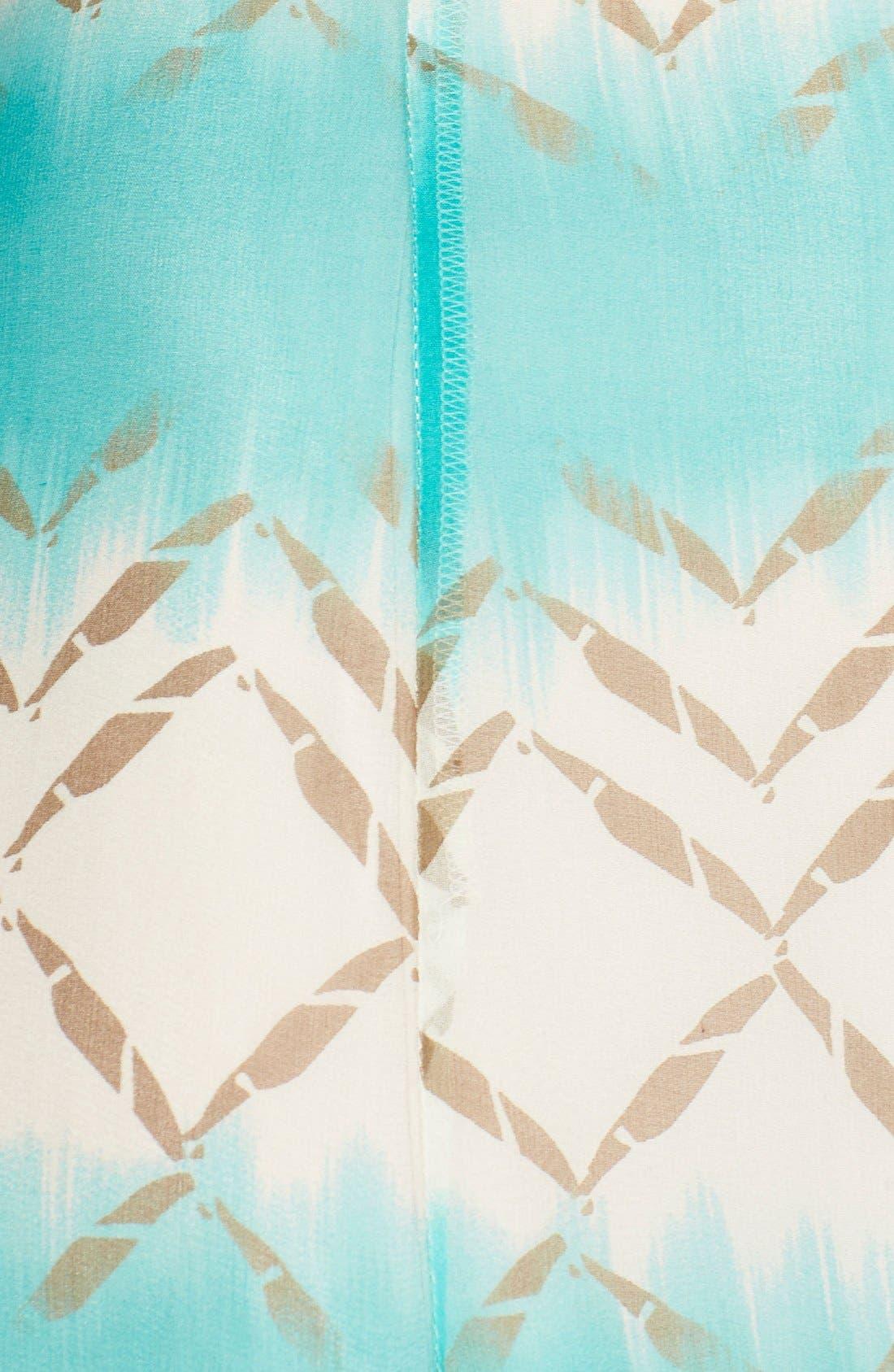 Alternate Image 5  - Charlie Jade Print Silk Chiffon Maxi Dress