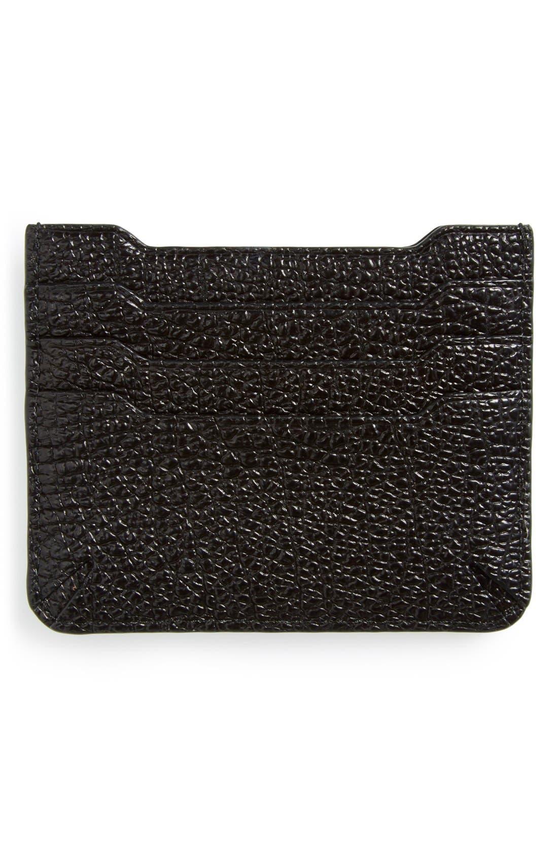Alternate Image 2  - rag & bone 'Crosby' Crackle Leather Card Case