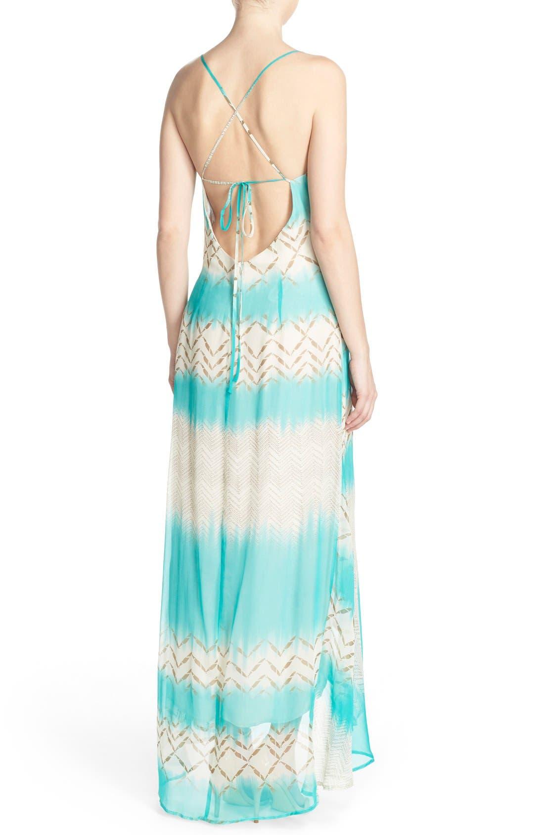 Alternate Image 2  - Charlie Jade Print Silk Chiffon Maxi Dress