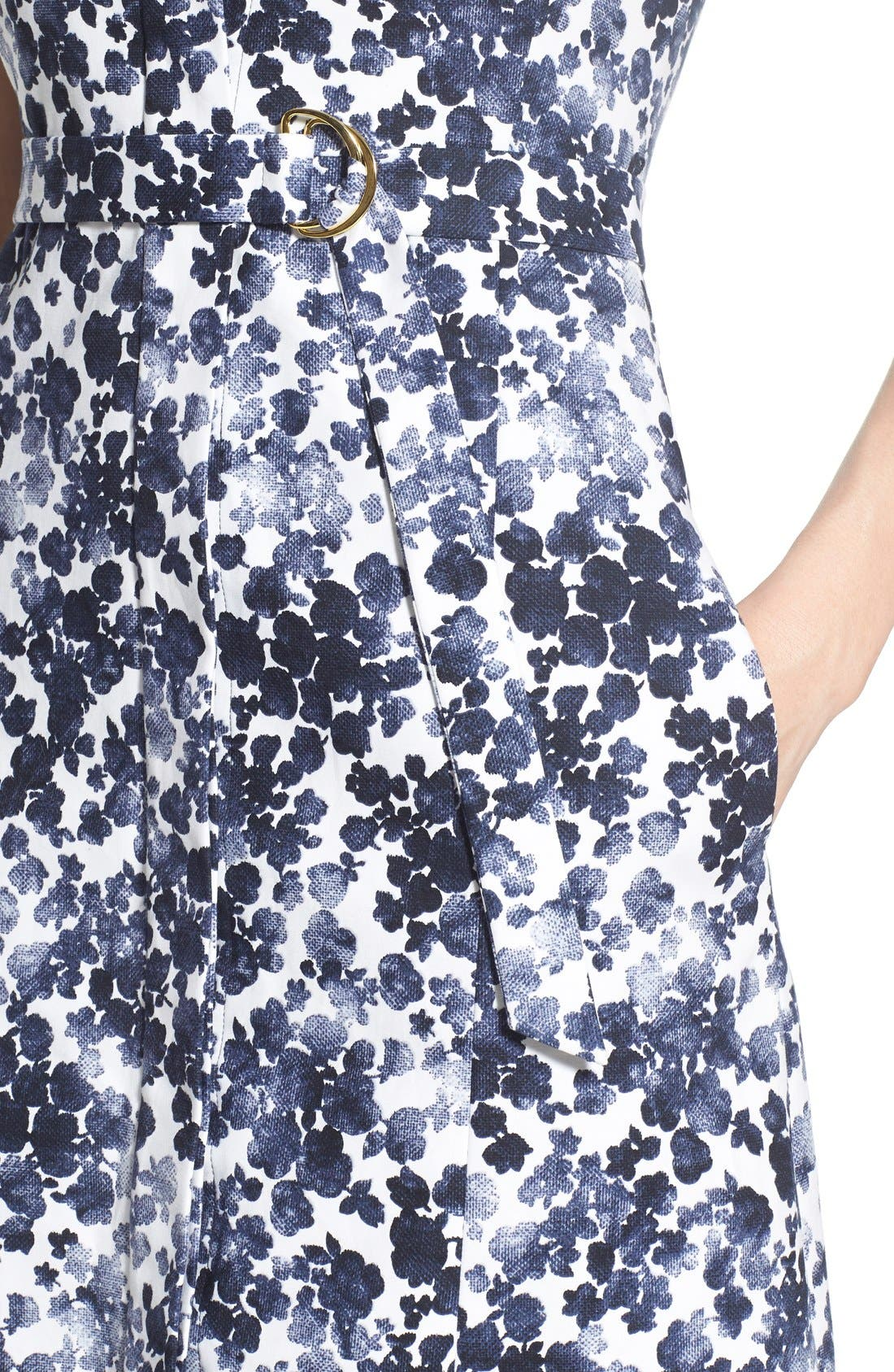 Alternate Image 5  - MICHAEL Michael Kors 'Gemma' Print Belted A-Line Dress