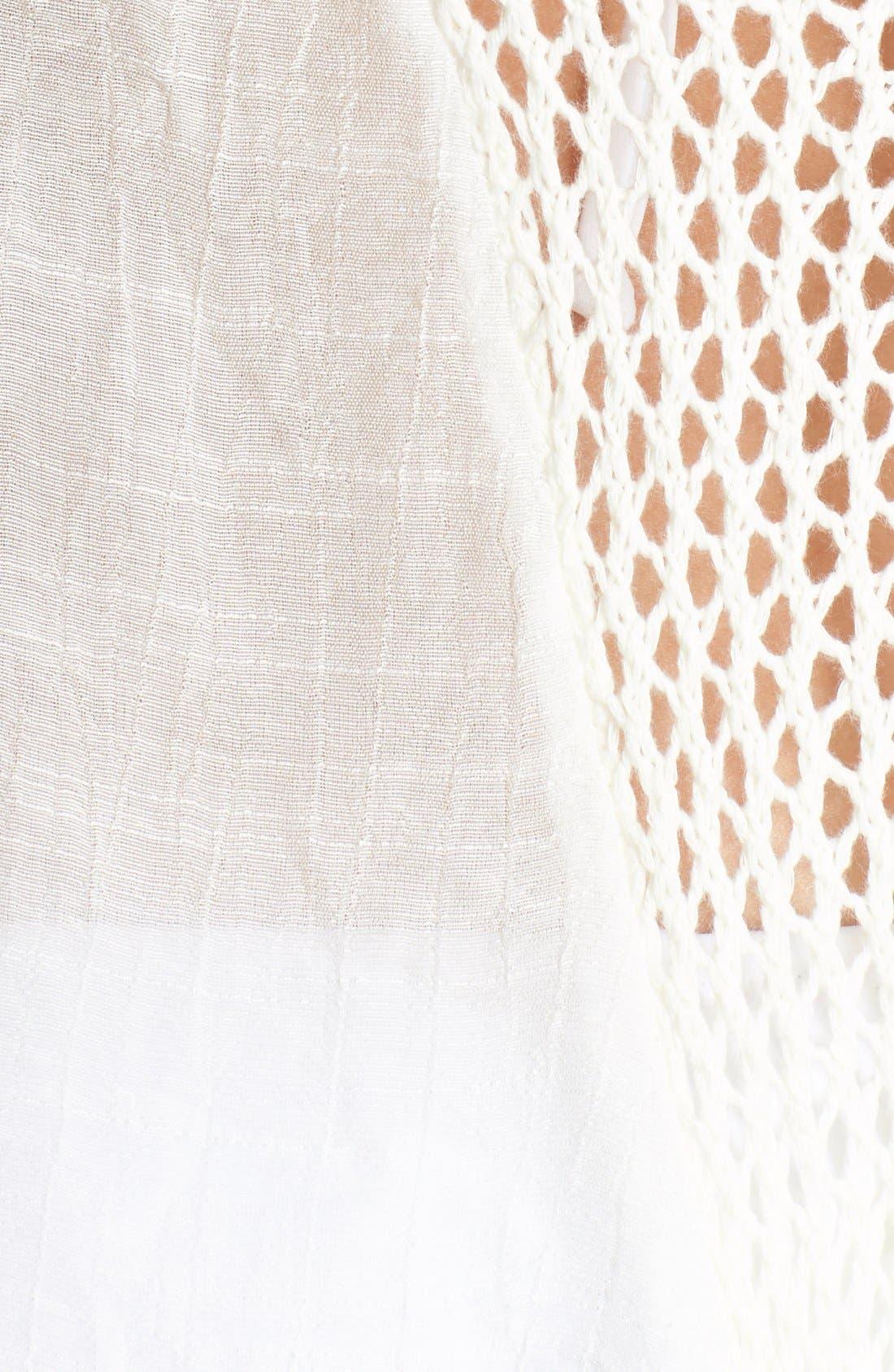Alternate Image 5  - Elan Crochet Inset Cover-Up Dress