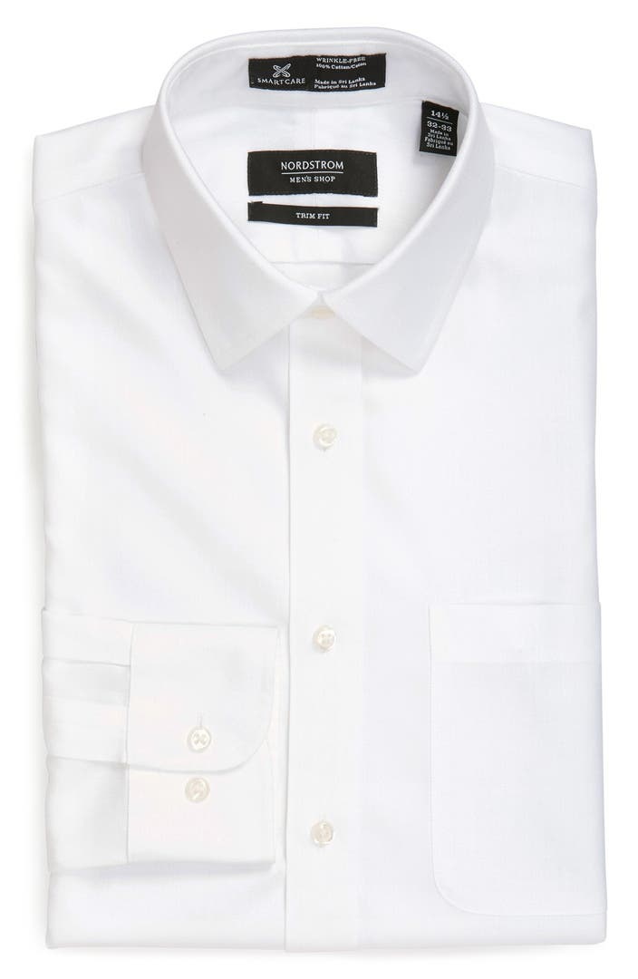 Nordstrom Men's Shop Smartcare™ Trim Fit Herringbone Dress Shirt ...
