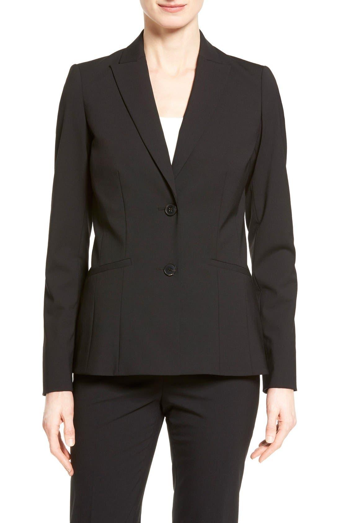 Alternate Image 1 Selected - Lafayette 148 New York 'Rhonda' Stretch Wool Jacket