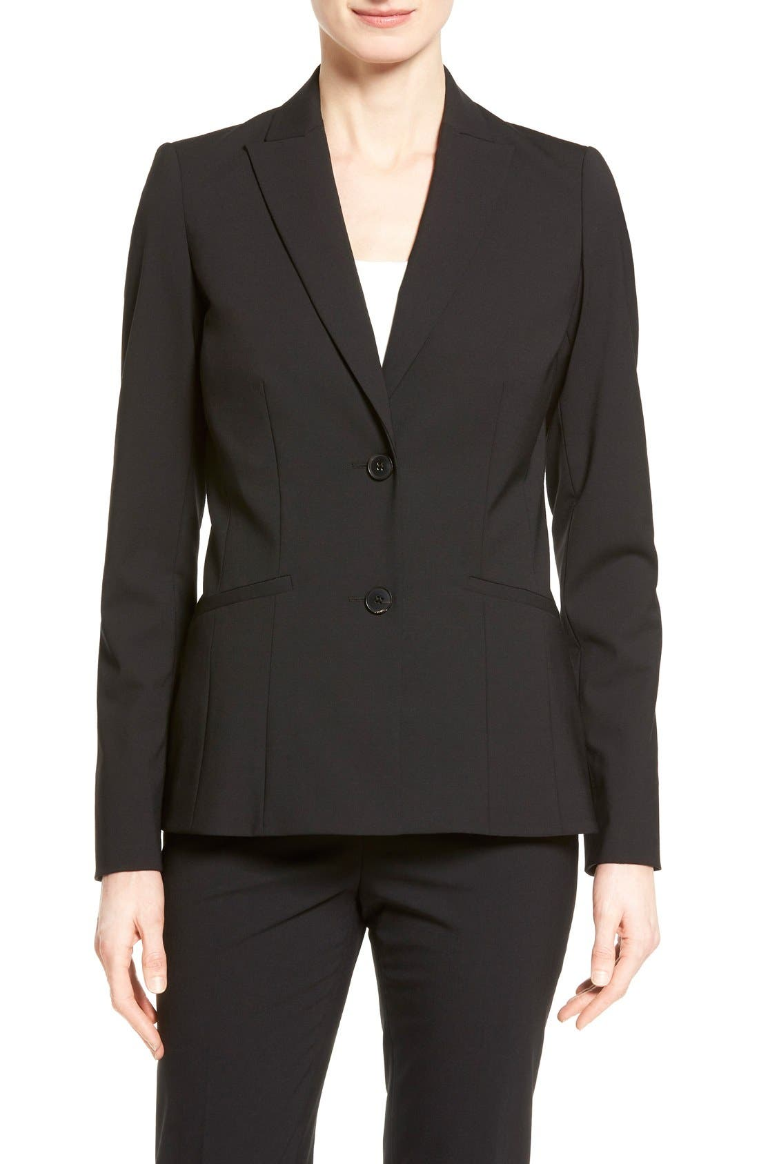 'Rhonda' Stretch Wool Jacket,                         Main,                         color, Black
