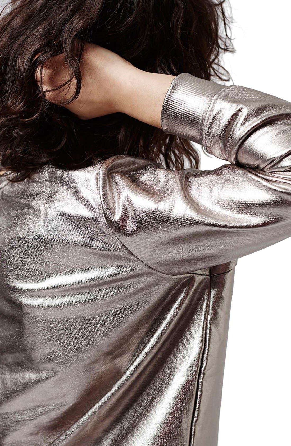 Alternate Image 5  - Topshop 'Luxe' Foiled Sweatshirt
